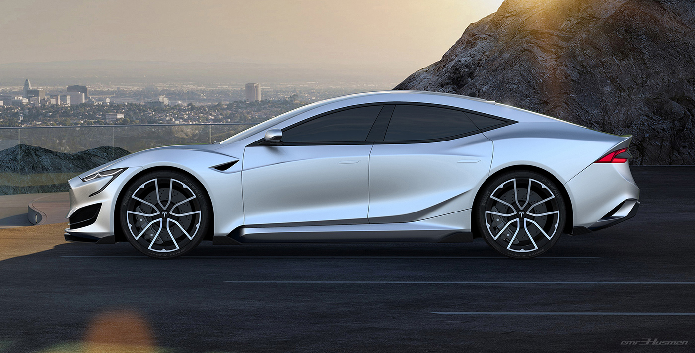 Tesla Model S Second generation renderings 4