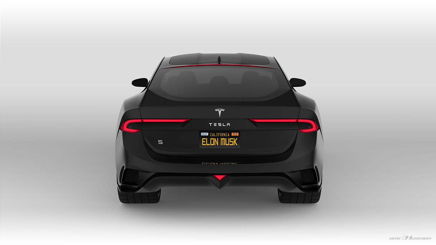 Tesla Model S Second generation renderings 6