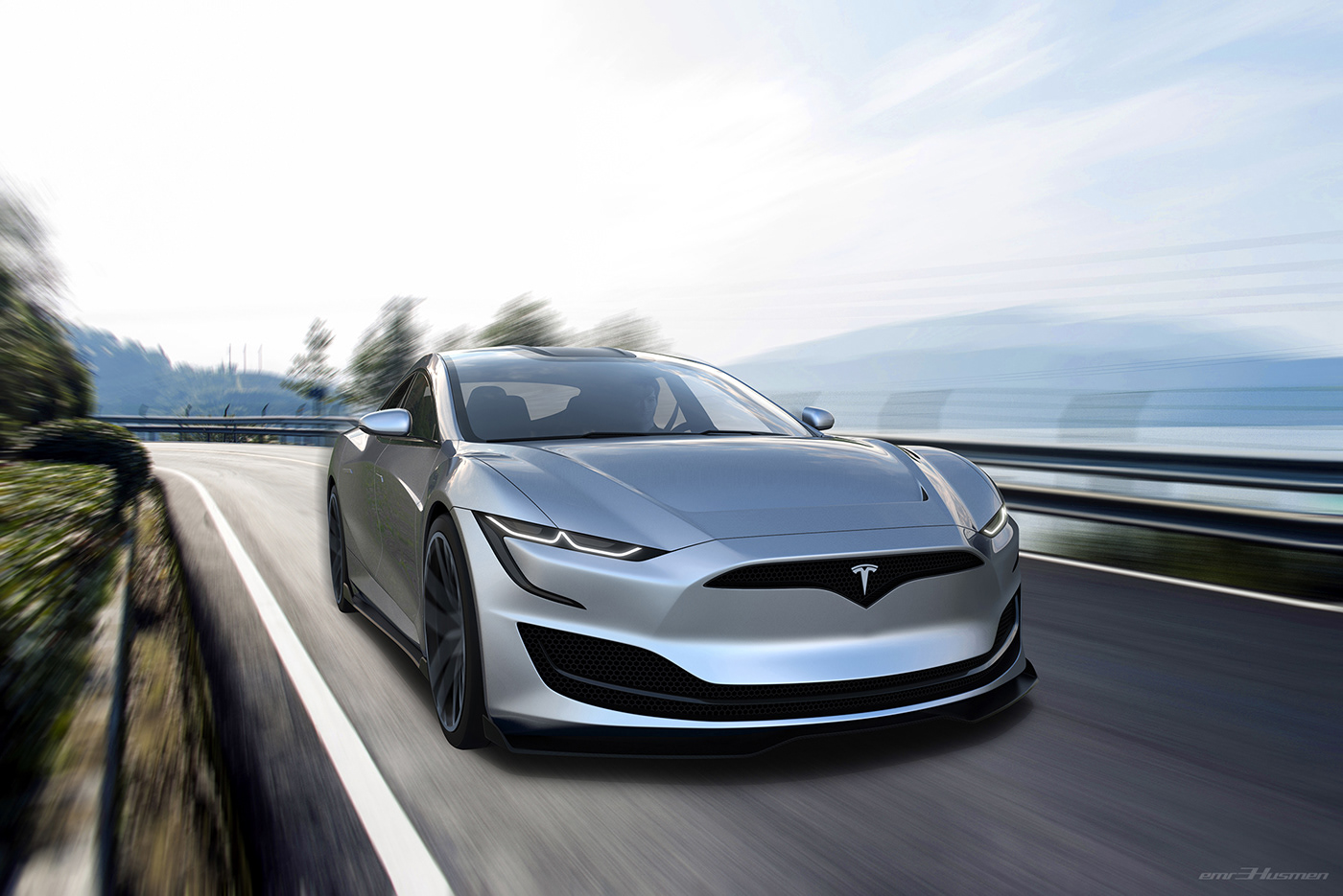 Tesla Model S Second generation renderings 7