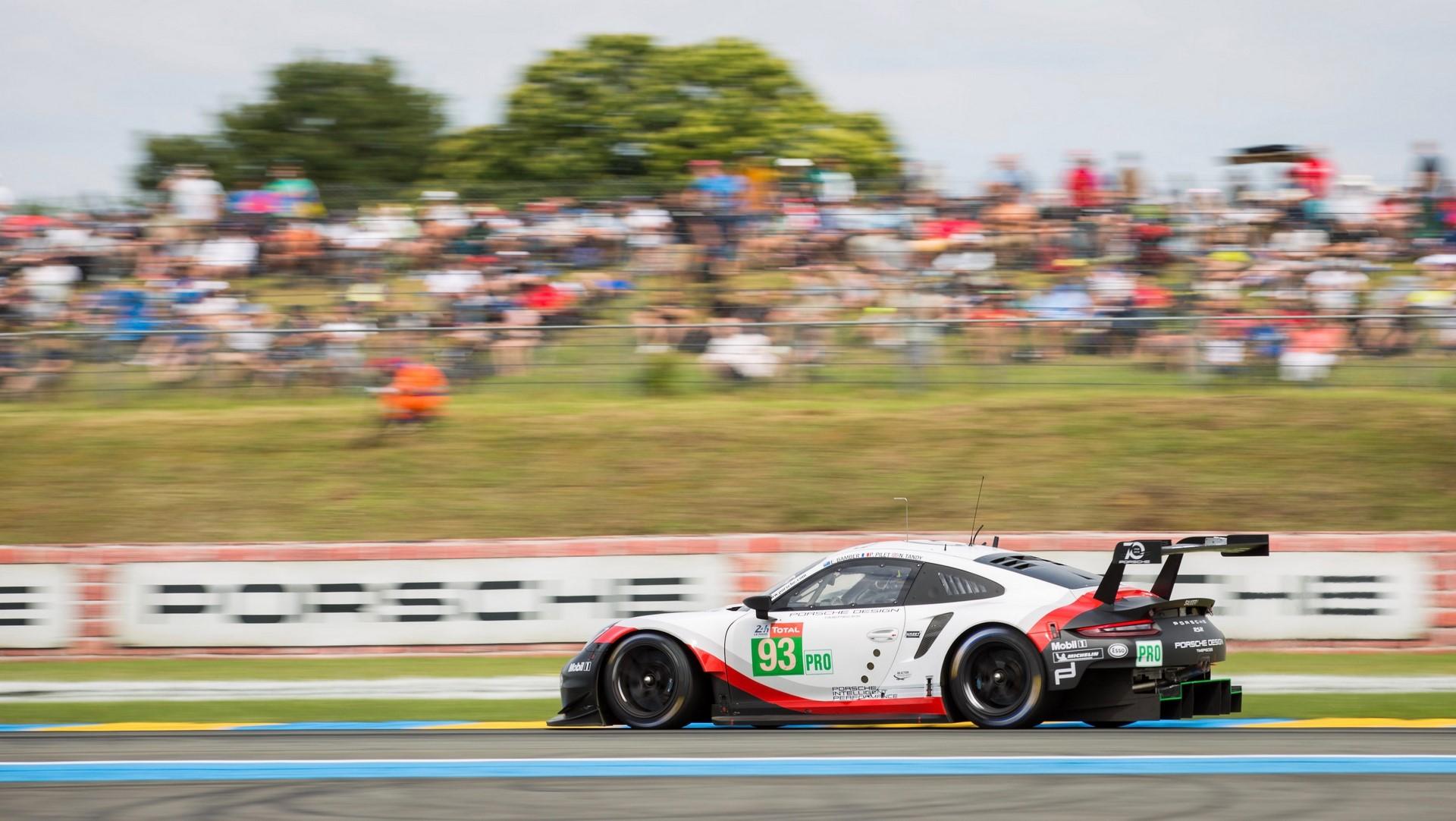 Porsche 911 RSR, Porsche GT Team (93), Earl Bamber (NZ), Patrick Pilet (F), Nick Tandy (GB), Le Mans 2018