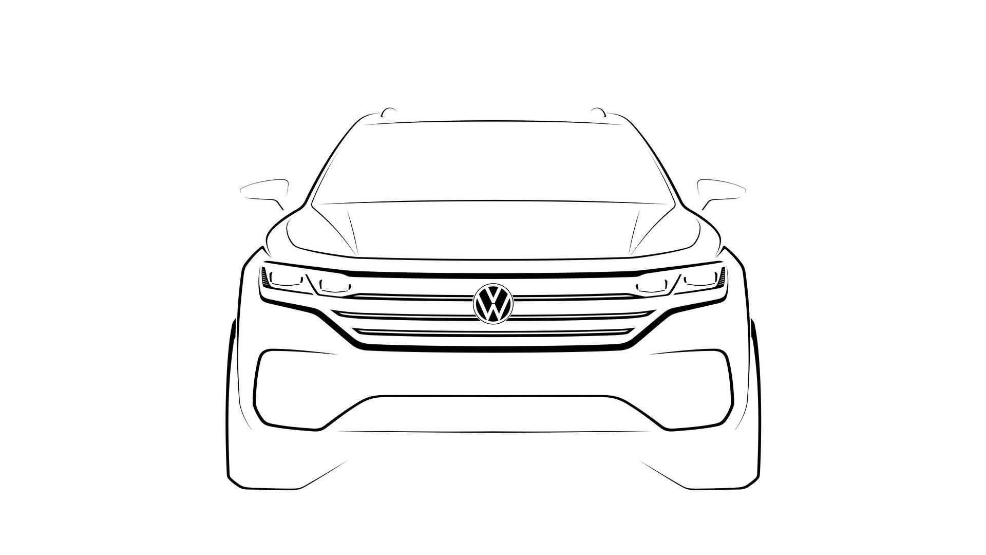 2019-volkswagen-touareg-teaser-sketch-front