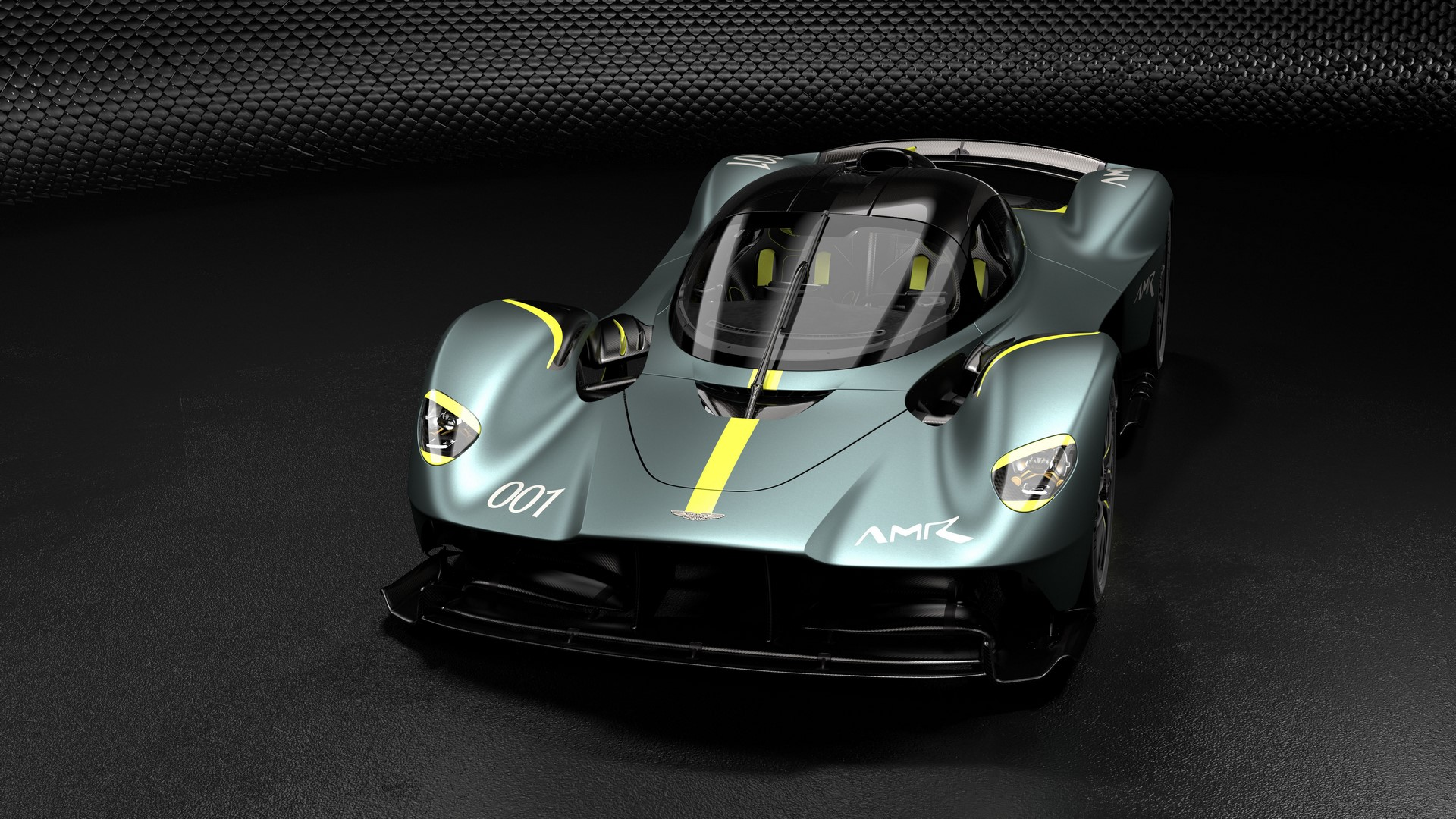 Aston Martin Valkyrie with AMR Track Performance Pack - Stirling Green and Lime livery (1)