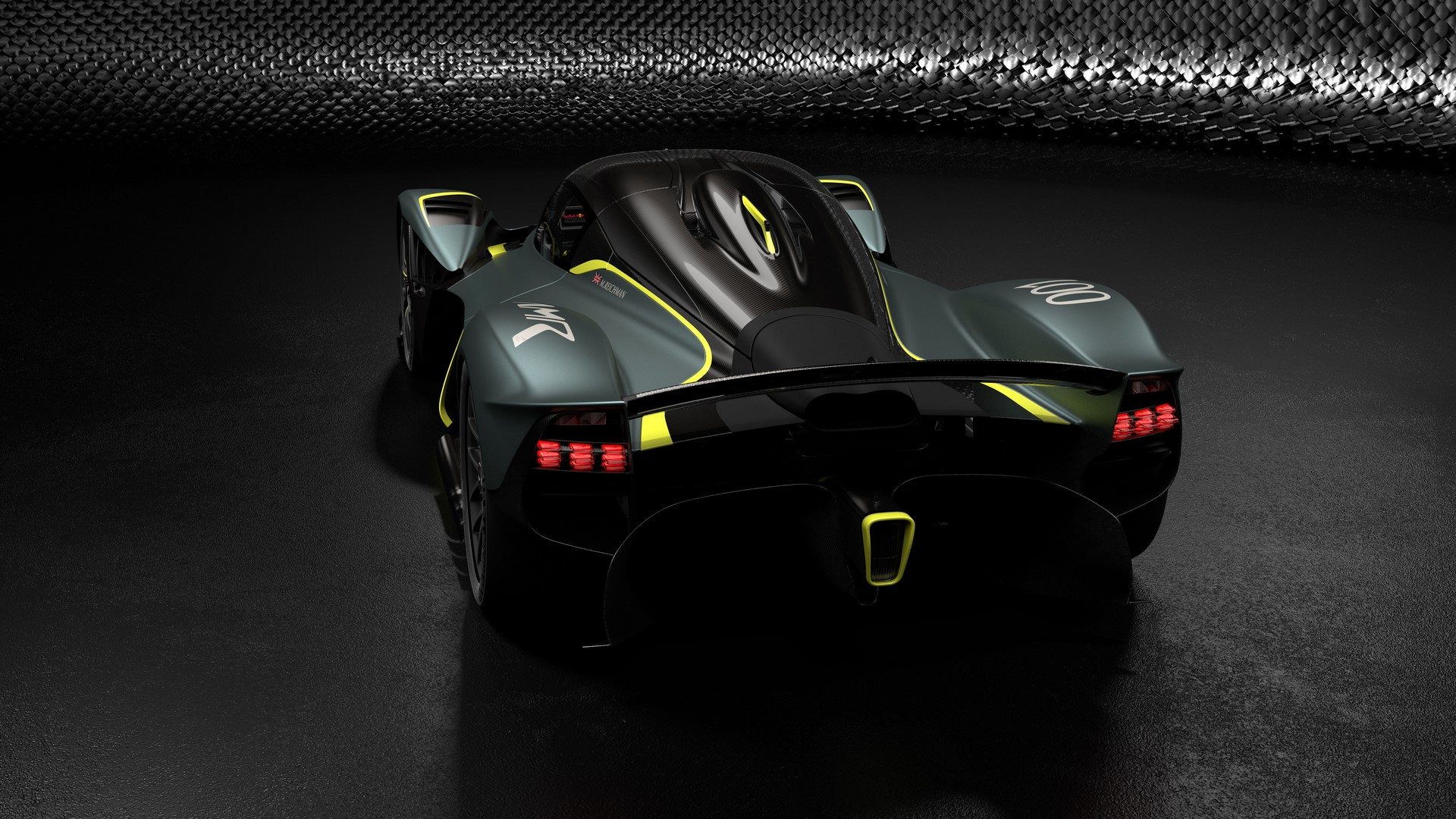 Aston Martin Valkyrie with AMR Track Performance Pack - Stirling Green and Lime livery (2)