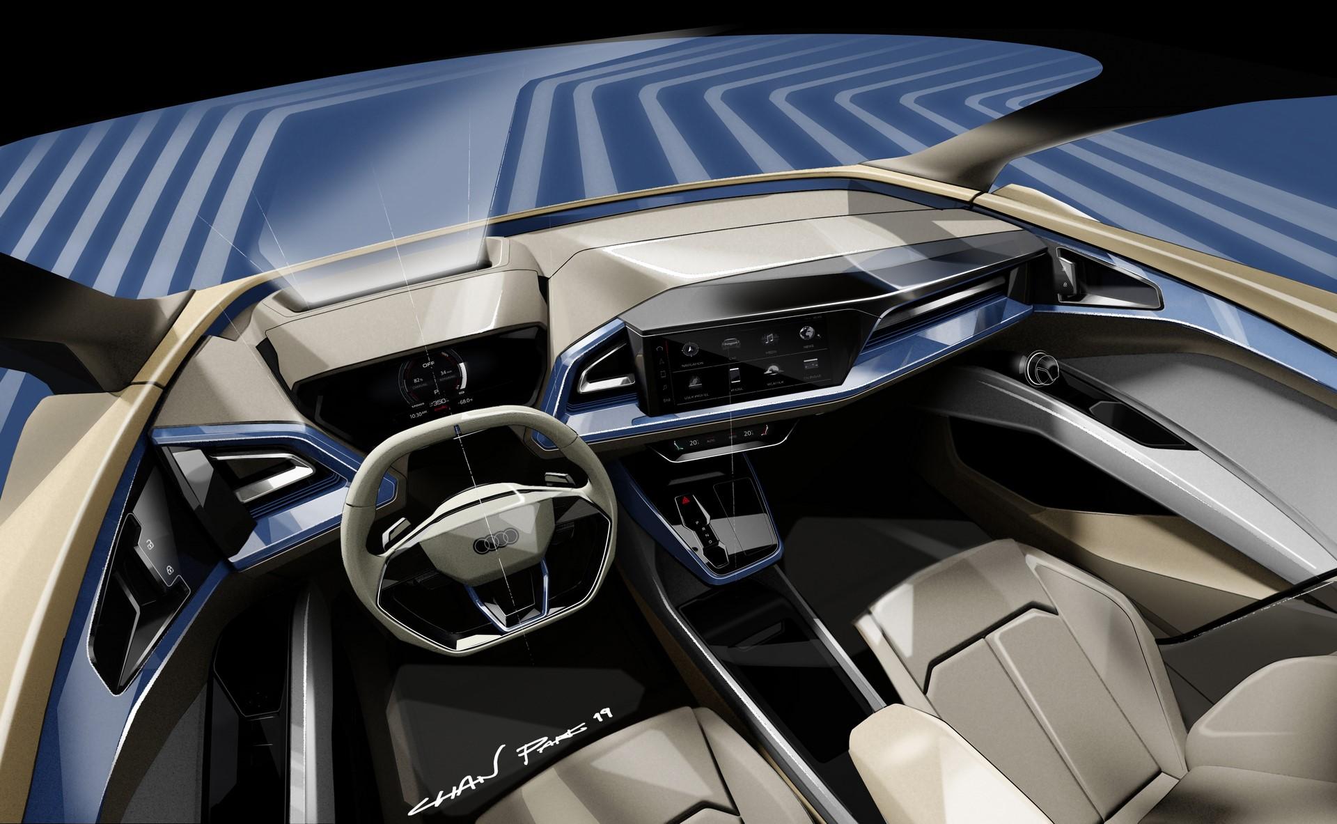 Audi Q4 e-tron concept Design Sketch (1)