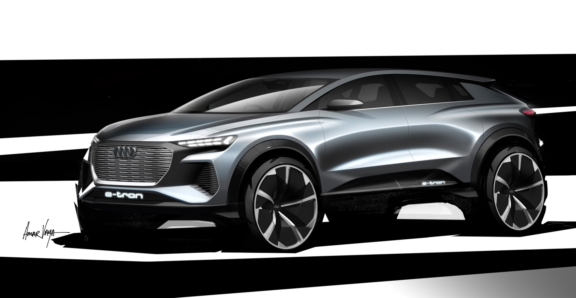 Audi Q4 e-tron concept Design Sketch (2)