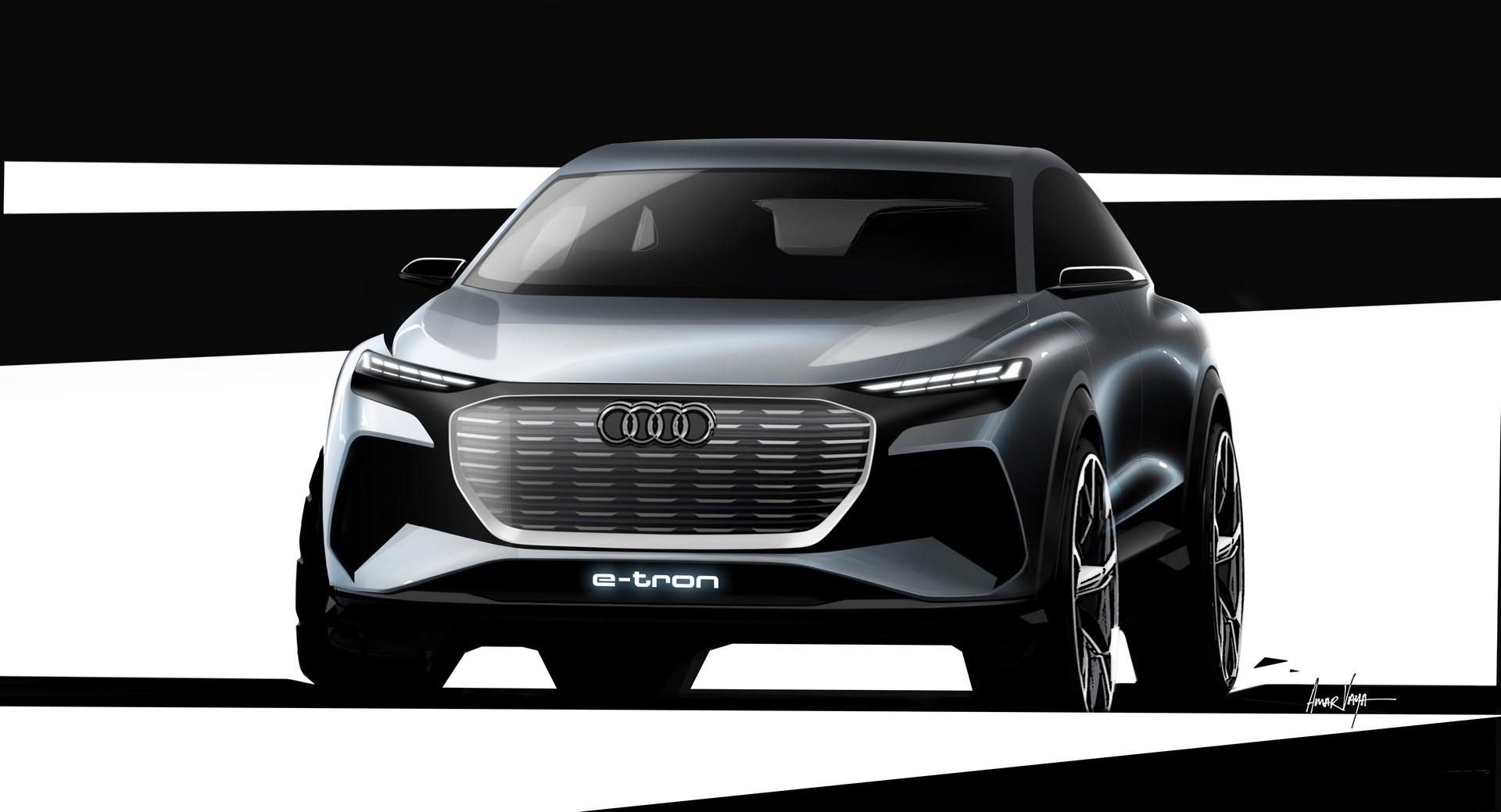 Audi Q4 e-tron concept Design Sketch (3)