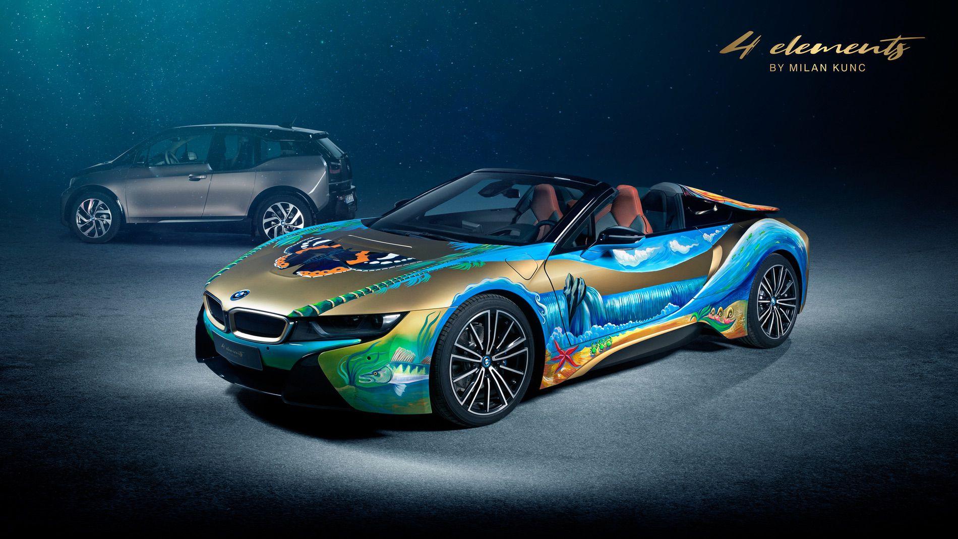 BMW i8 Roadster 4 Elements Art Car by Milan Kunc (1)