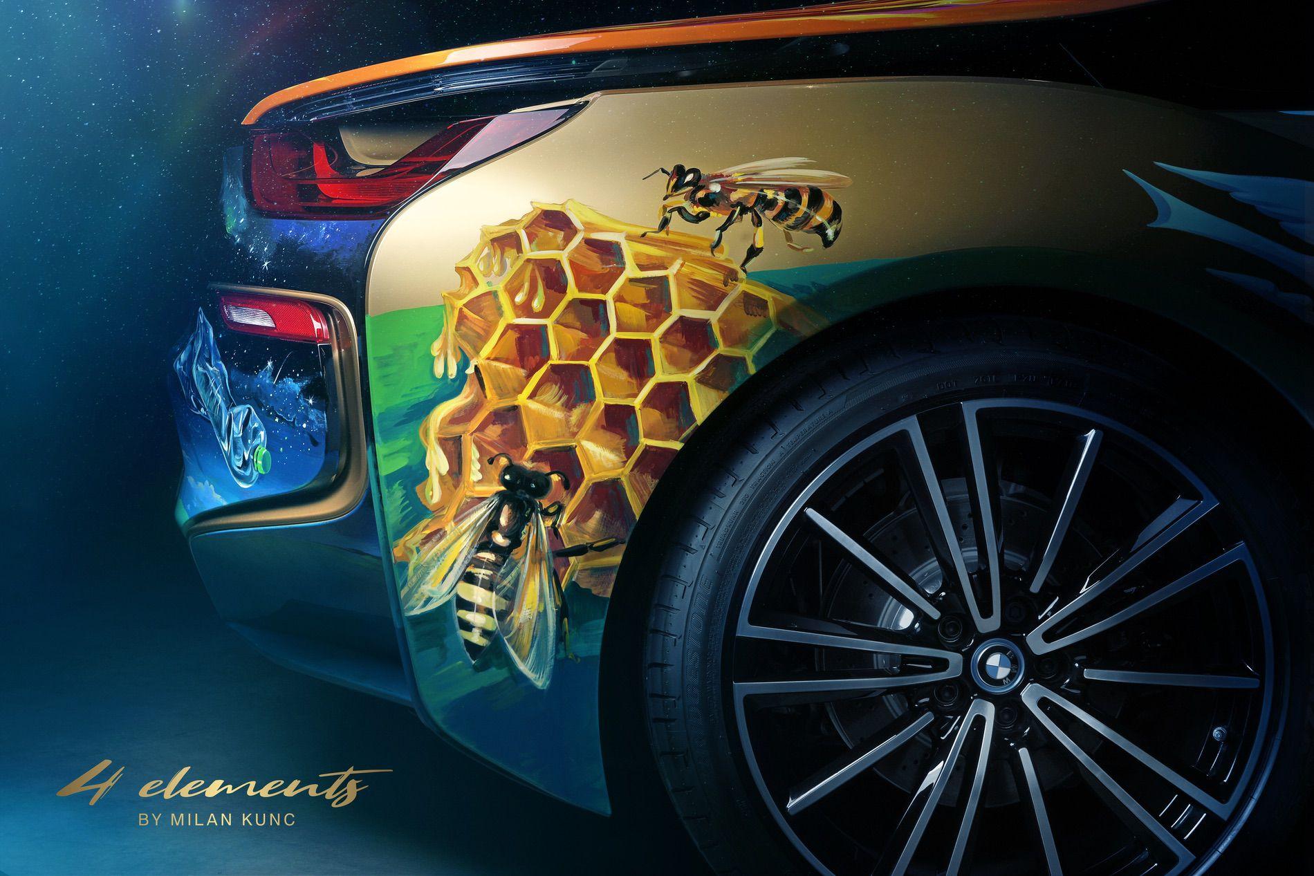BMW i8 Roadster 4 Elements Art Car by Milan Kunc (6)