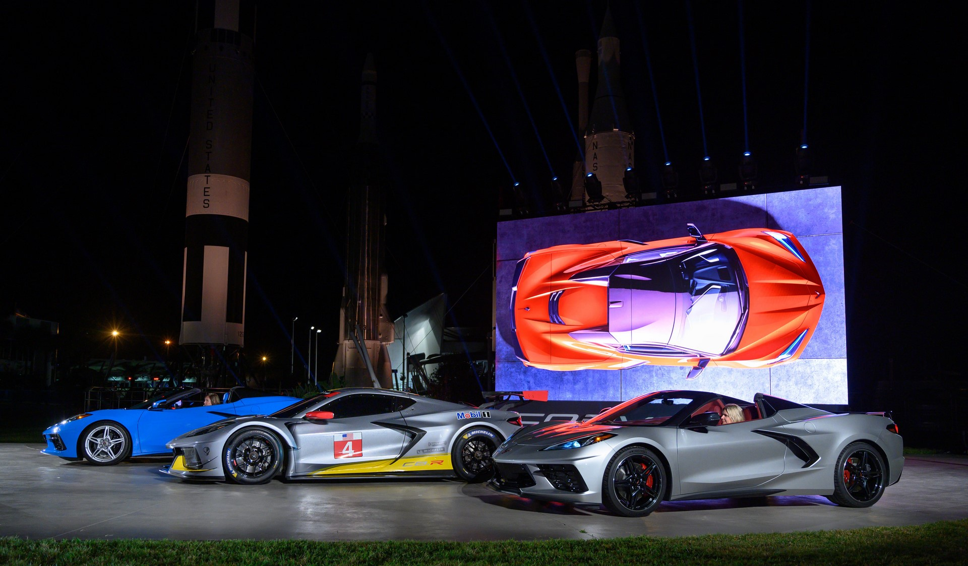 Chevrolet Corvette Stingray Convertible and Corvette C8.R Race Car
