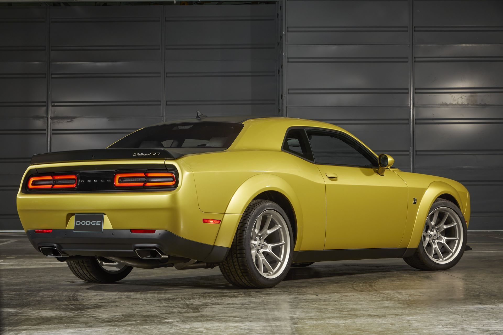 Challenger R/T Scat Pack Widebody 50th Anniversary Edition in Gold Rush