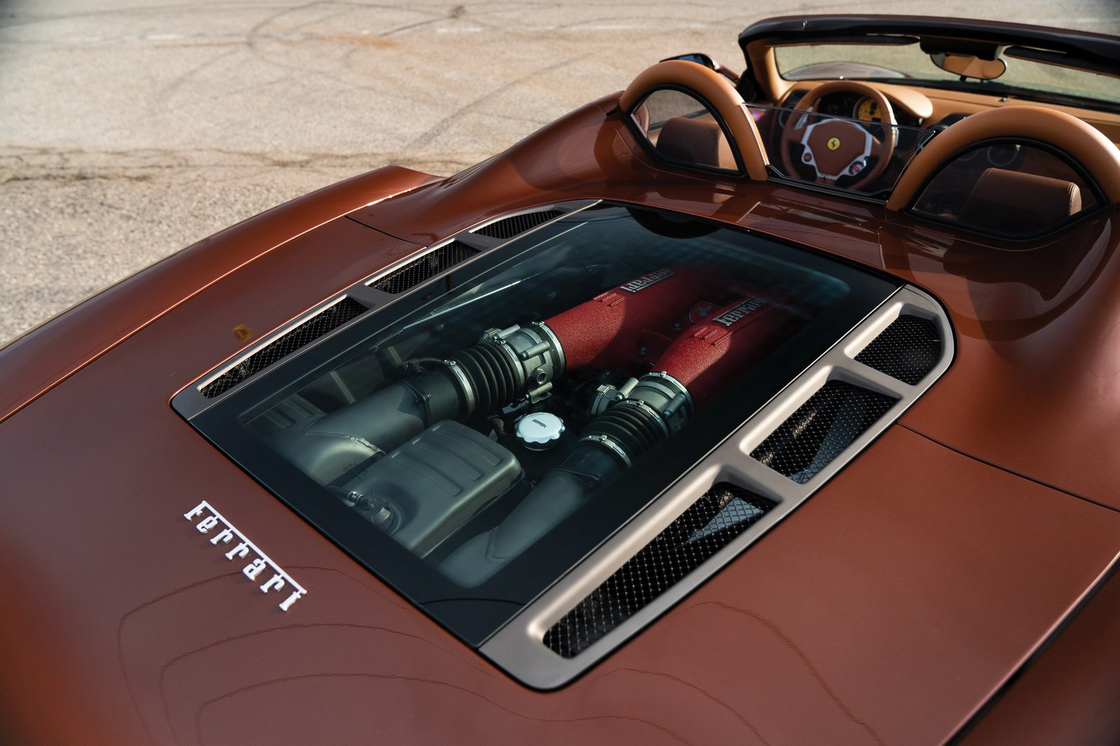 Ferrari F430 Spider in brown Classic Marrone color (18)