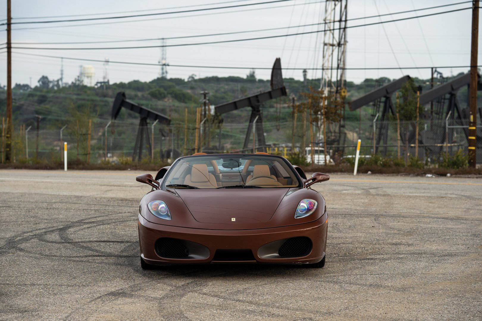 Ferrari F430 Spider in brown Classic Marrone color (4)