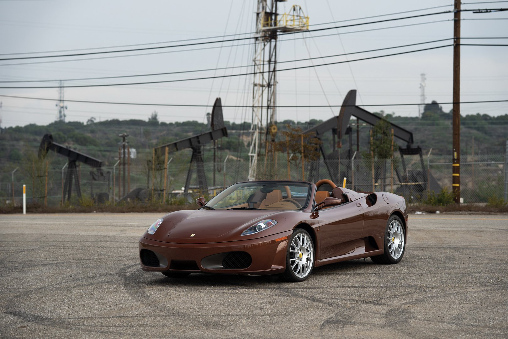 Ferrari F430 Spider in brown Classic Marrone color (6)