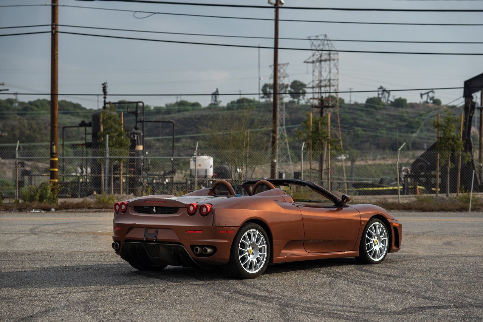 Ferrari F430 Spider in brown Classic Marrone color (7)