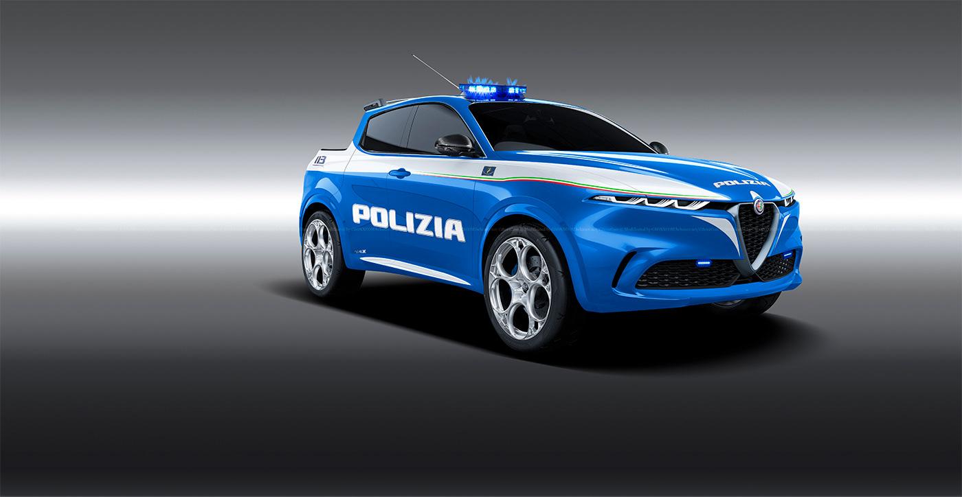 Alfa Romeo Tonale Polizia Pickup (1)