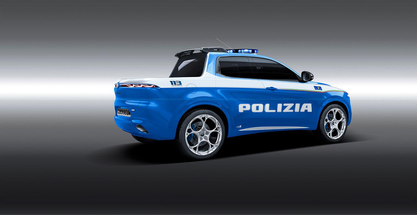 Alfa Romeo Tonale Polizia Pickup (2)