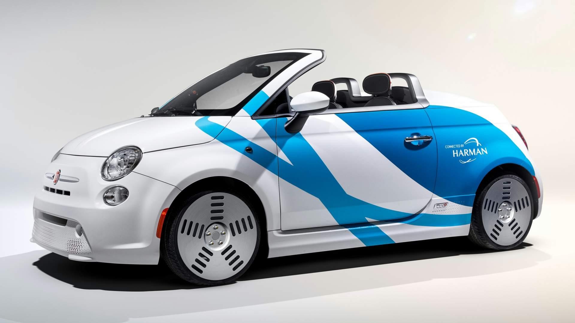 Fiat 500e concept by Harman (1)