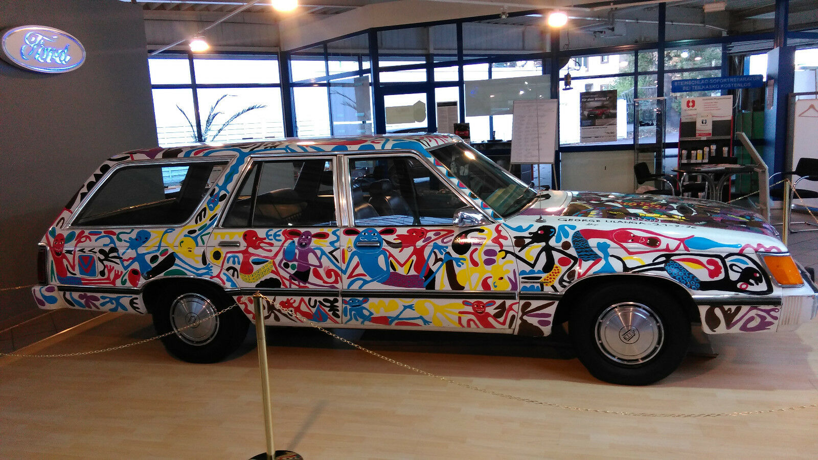 Ford LTD Station Wagon Car art George Lilanga (1)