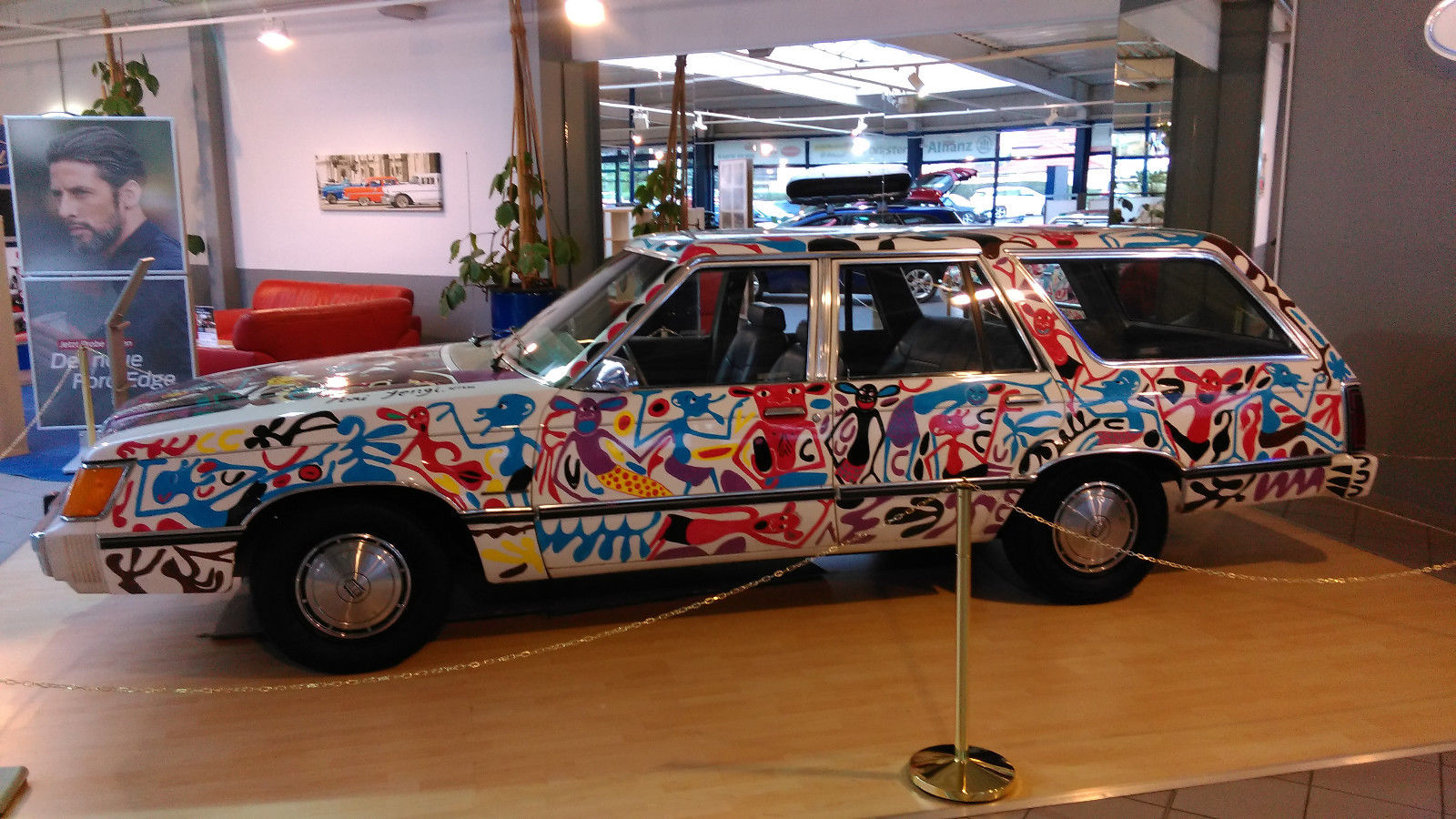 Ford LTD Station Wagon Car art George Lilanga (2)