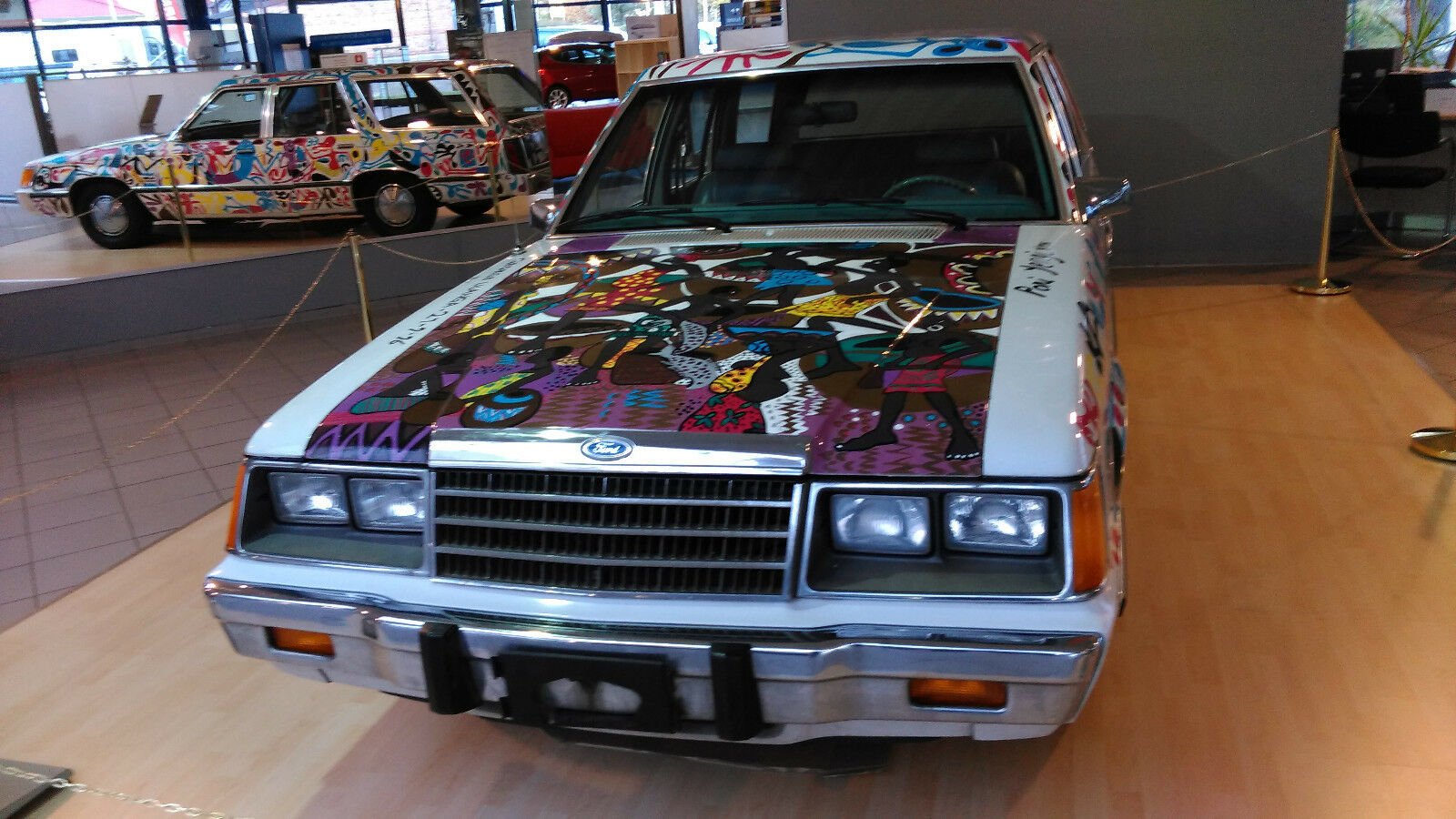 Ford LTD Station Wagon Car art George Lilanga (3)