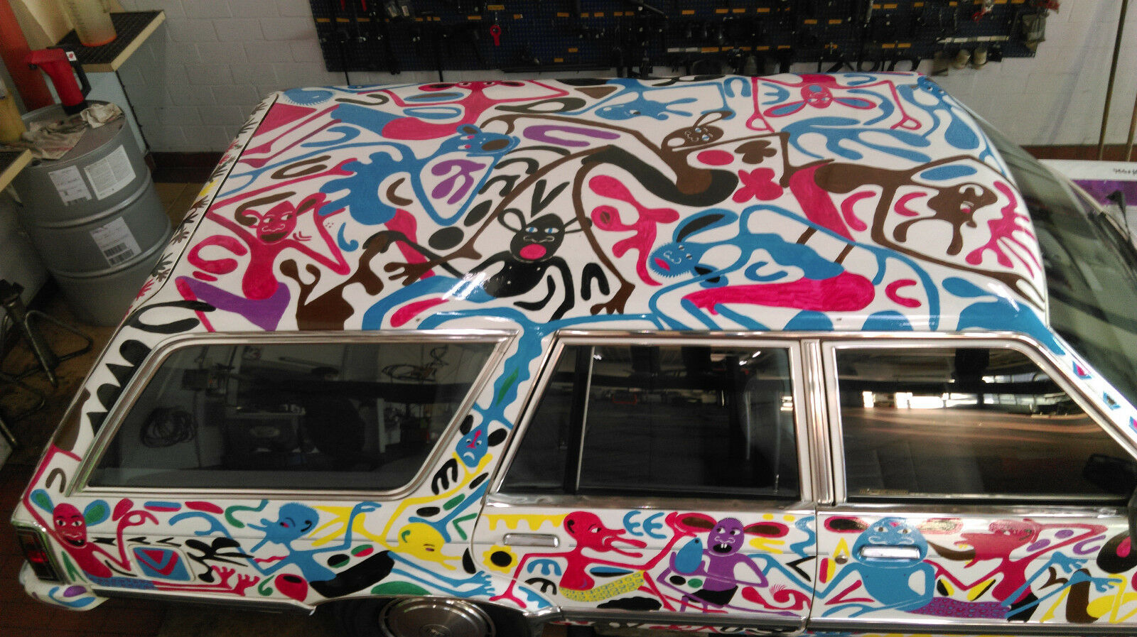Ford LTD Station Wagon Car art George Lilanga (7)