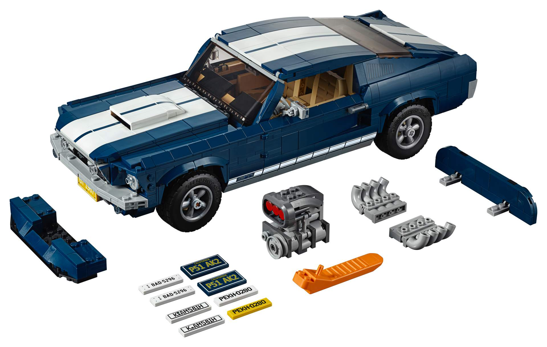 Ford Mustang GT 1967 Lego Creator Set (17)