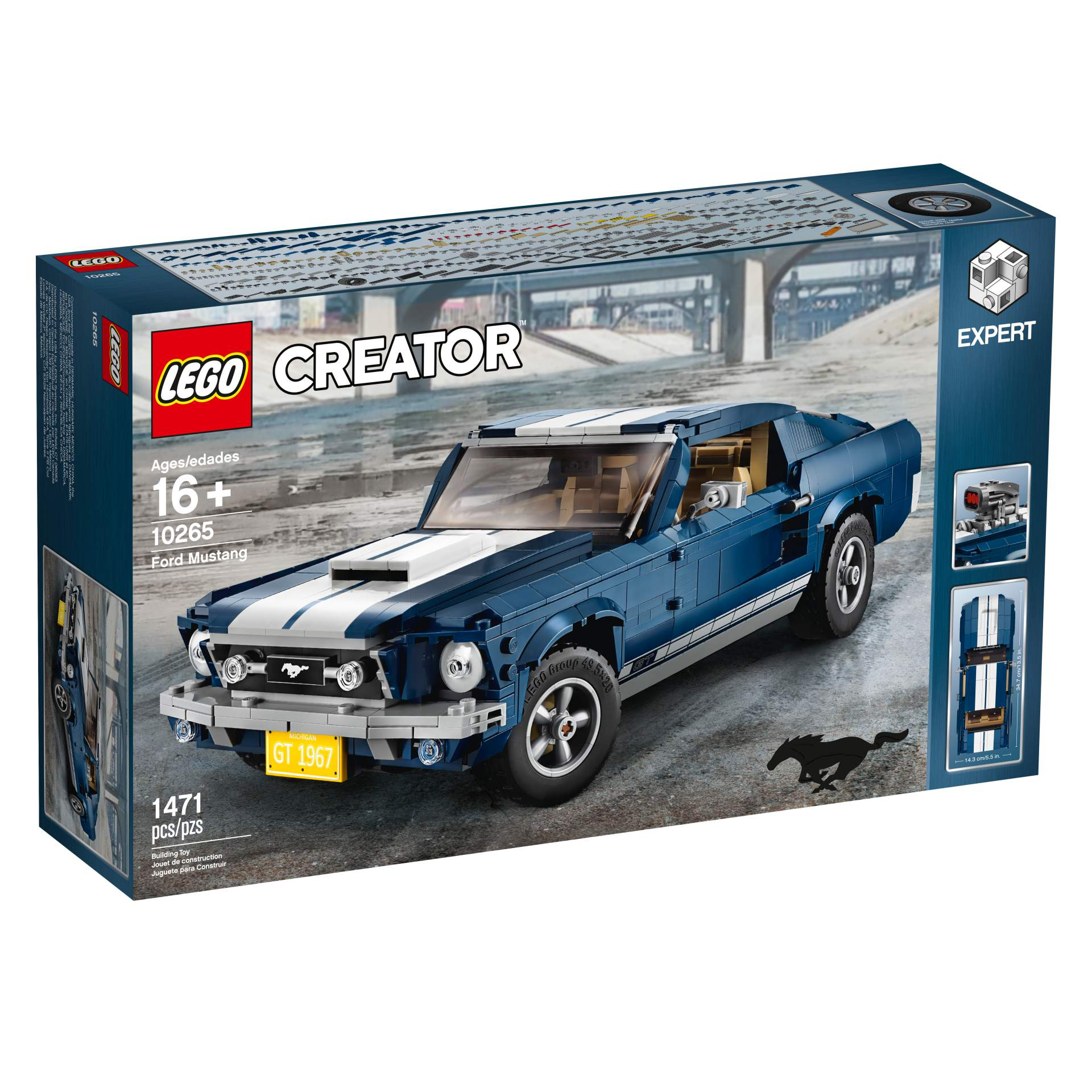 Ford Mustang GT 1967 Lego Creator Set (21)