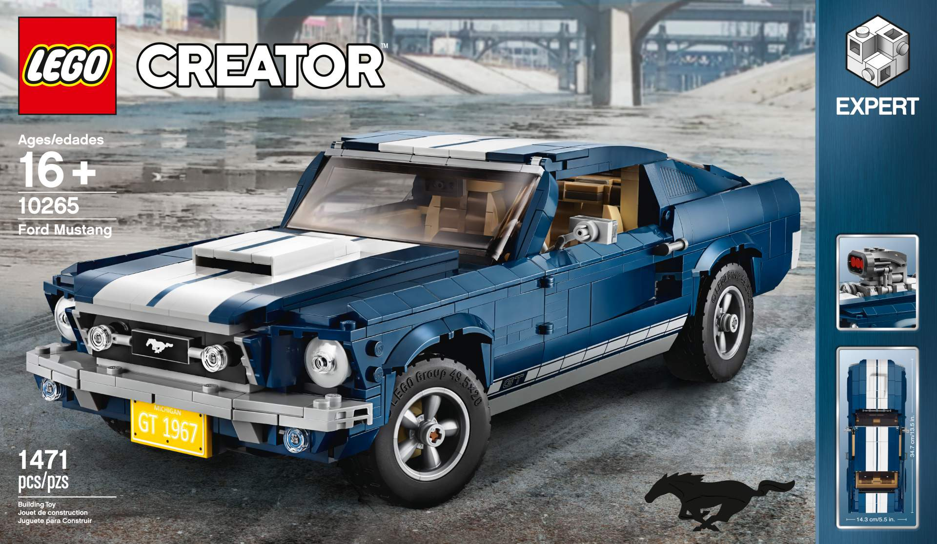 Ford Mustang GT 1967 Lego Creator Set (24)