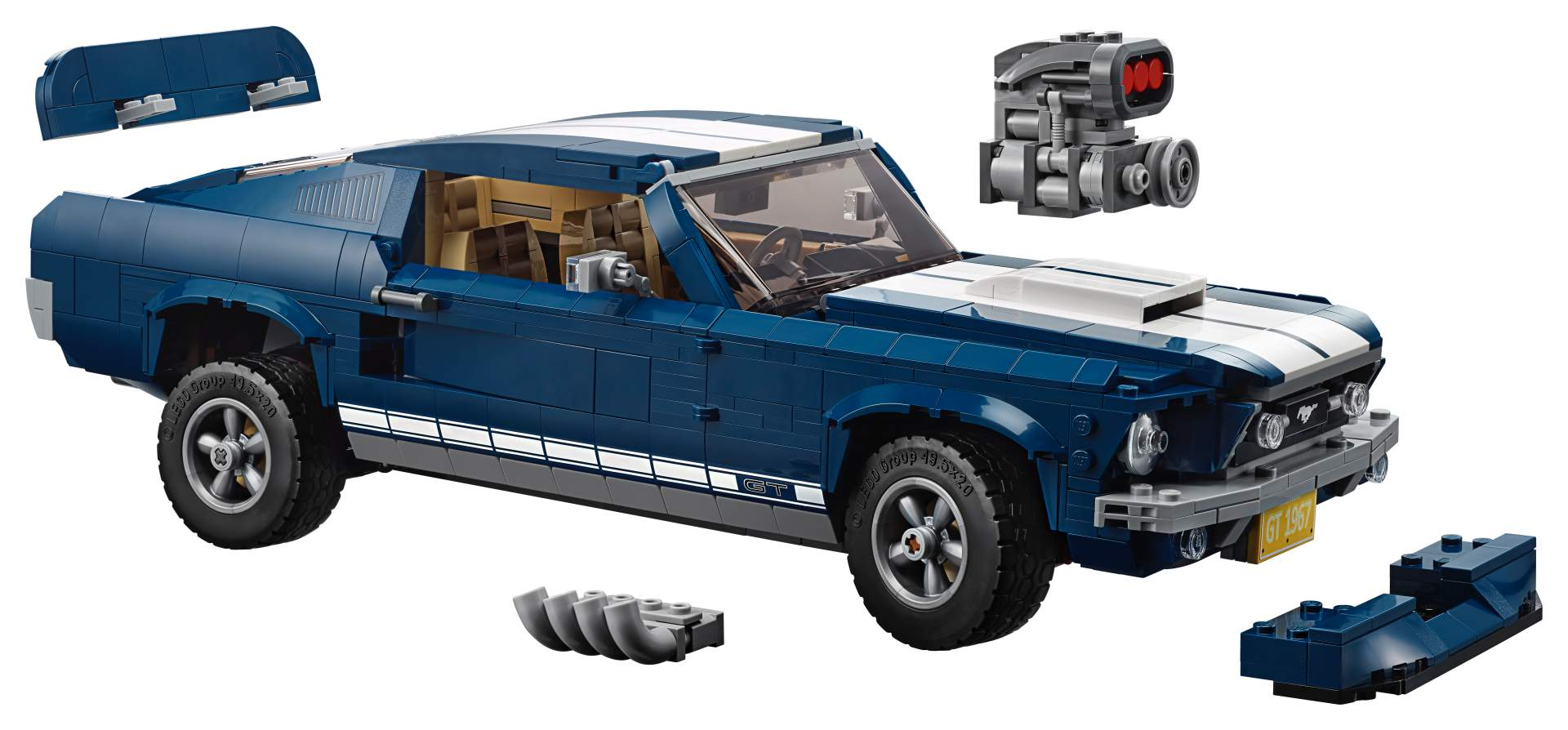 Ford Mustang GT 1967 Lego Creator Set (5)