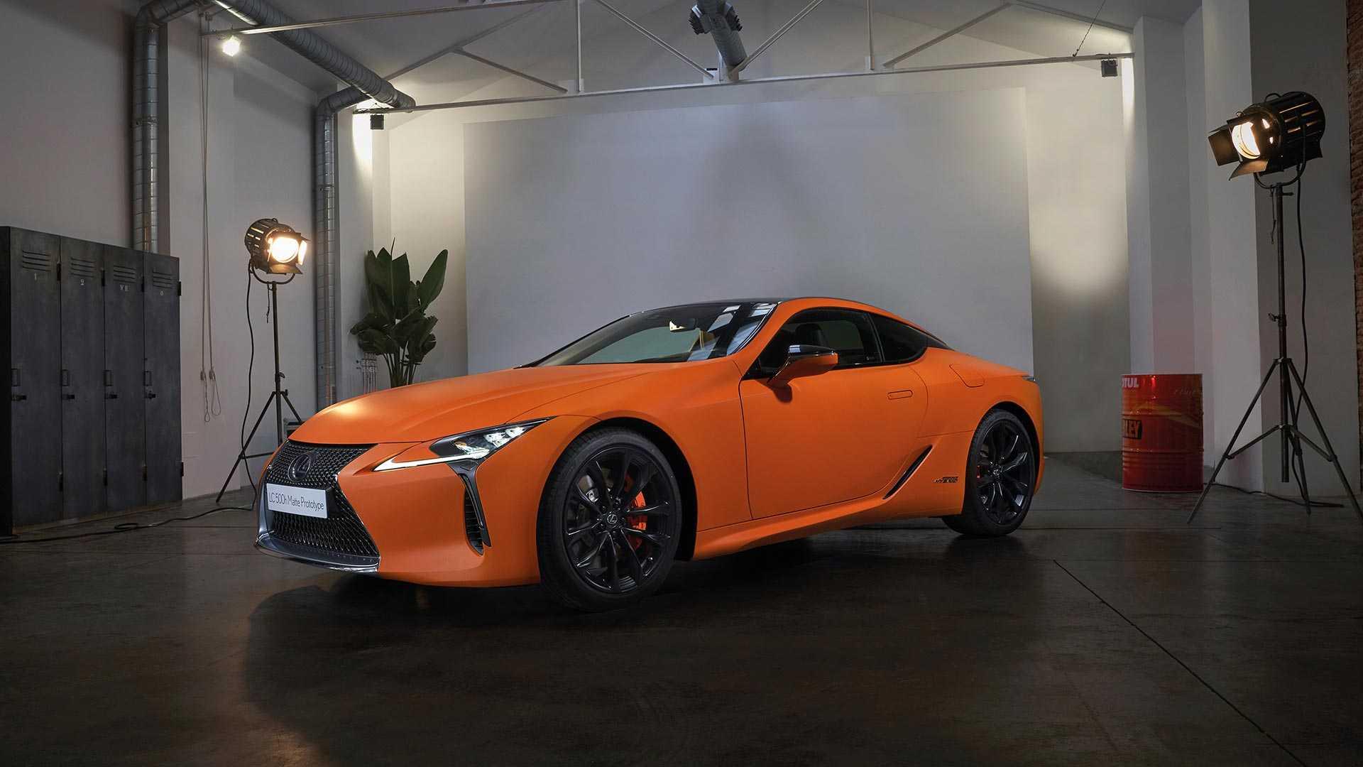 lexus-lc-500h-matte-prototype-space-orange