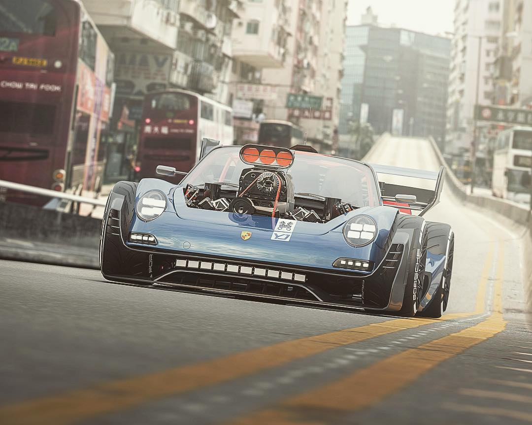 Porsche-911-with-HEMI-V8-engine-6