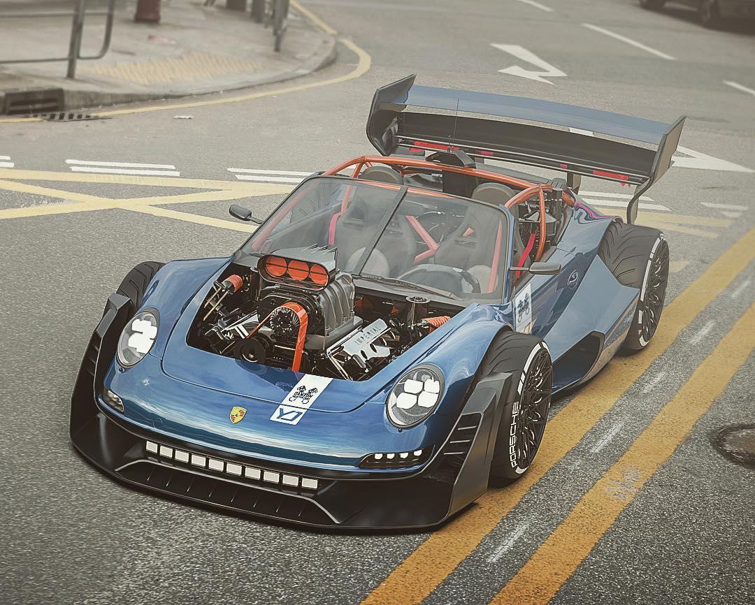 Porsche-911-with-HEMI-V8-engine-7