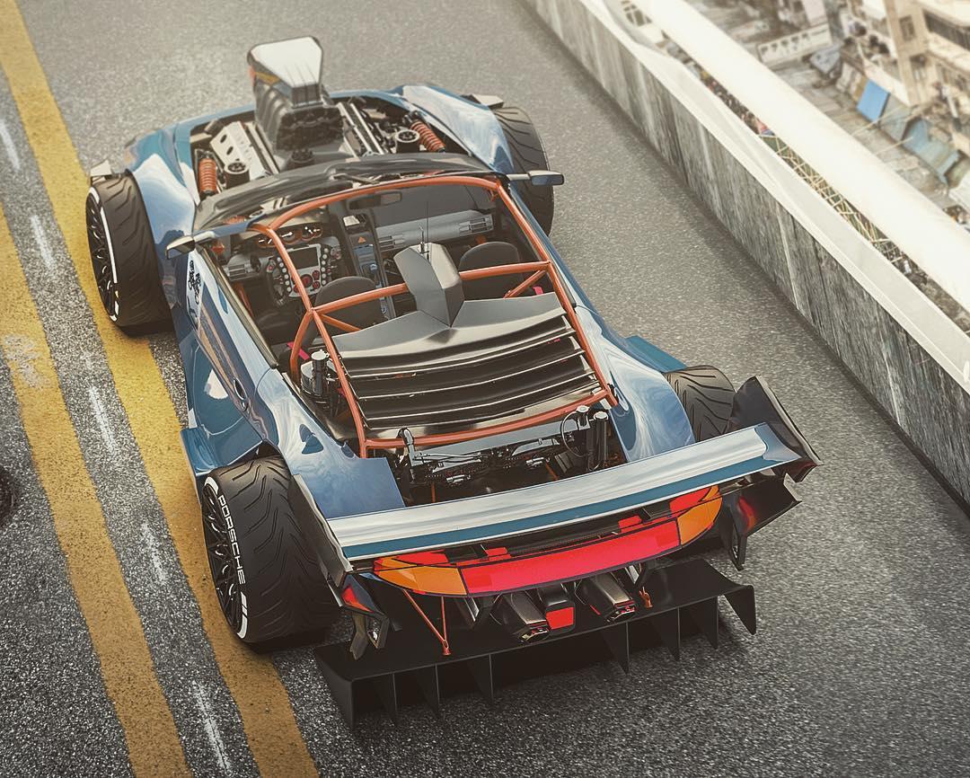 Porsche-911-with-HEMI-V8-engine-9