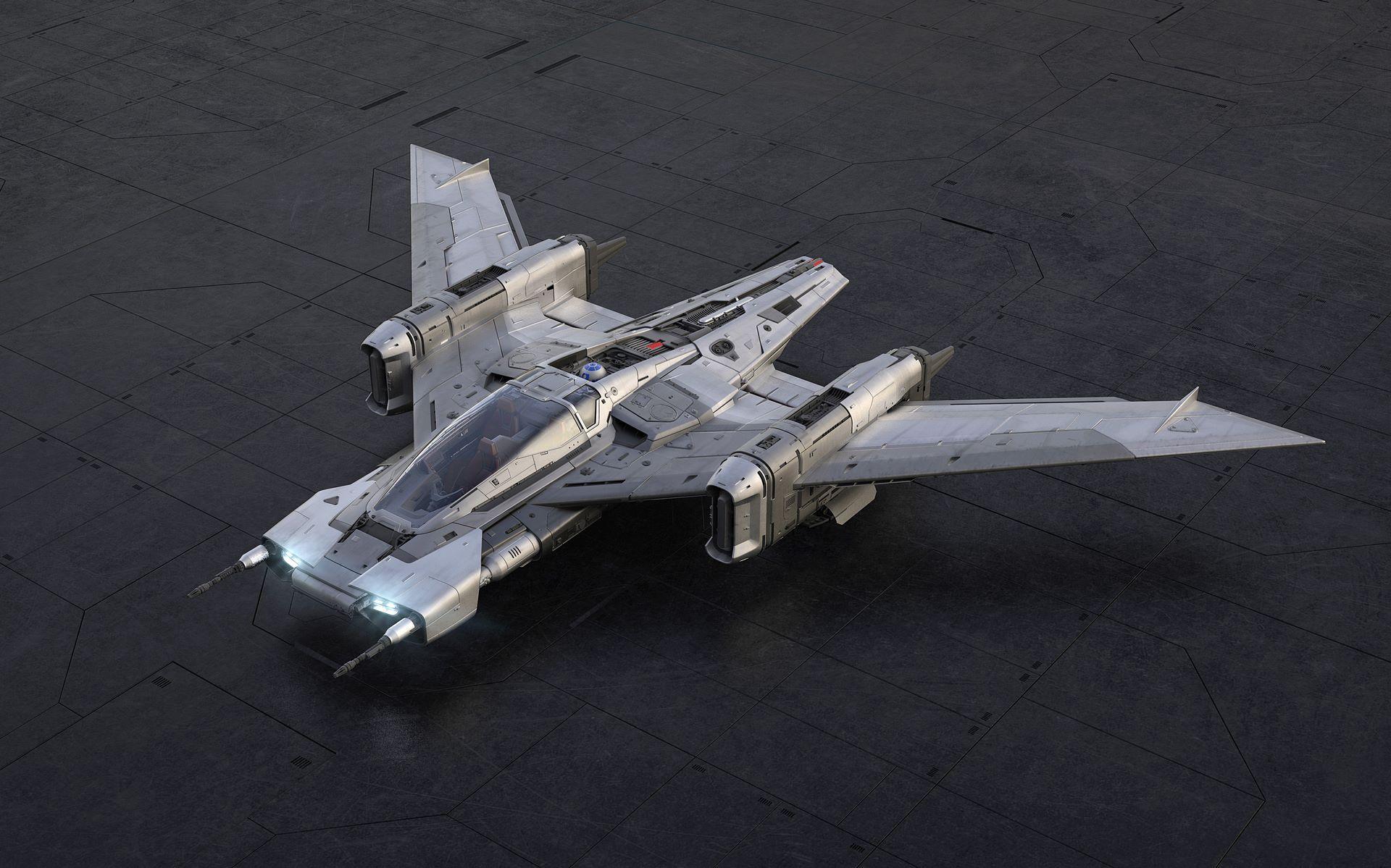 Porsche-Star-Wars-starfighter-space-ship-1