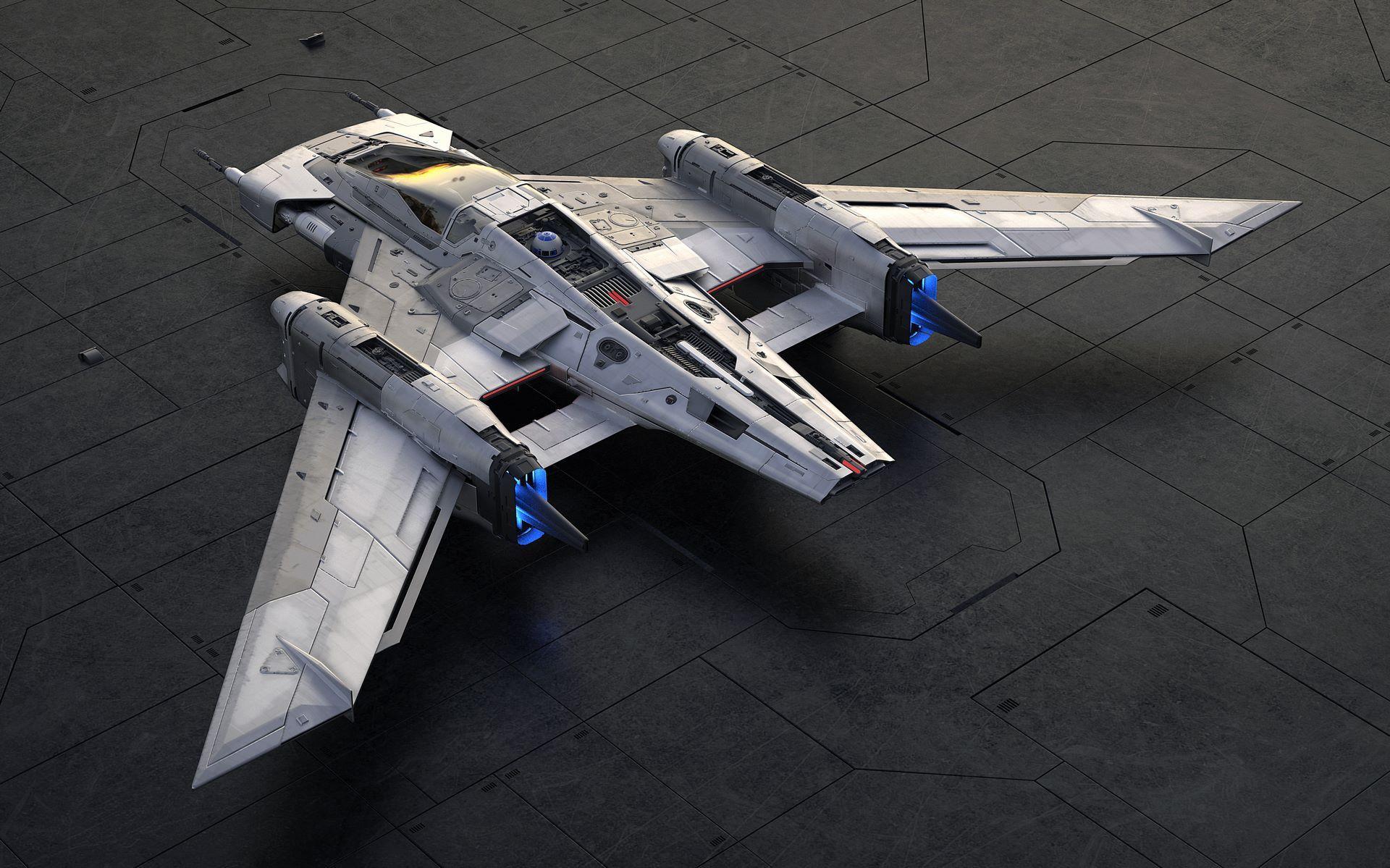 Porsche-Star-Wars-starfighter-space-ship-2