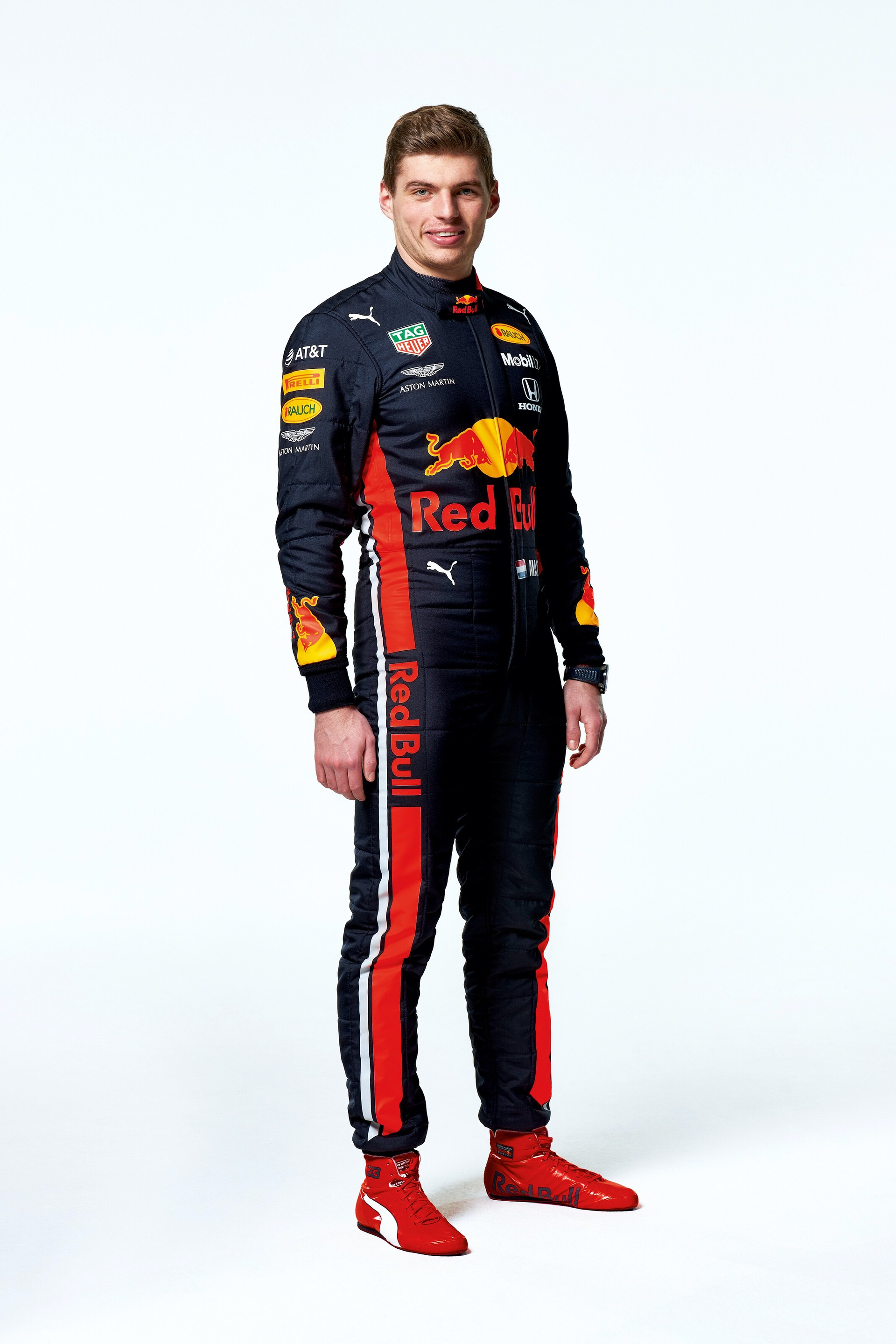 Max Verstappen seen during the Red Bull Racing 2019 Studio Shoot, February 2019, United Kingdom // Dustin Snipes/Red Bull Content Pool // AP-1YFPFH7251W11 // Usage for editorial use only // Please go to www.redbullcontentpool.com for further information. //
