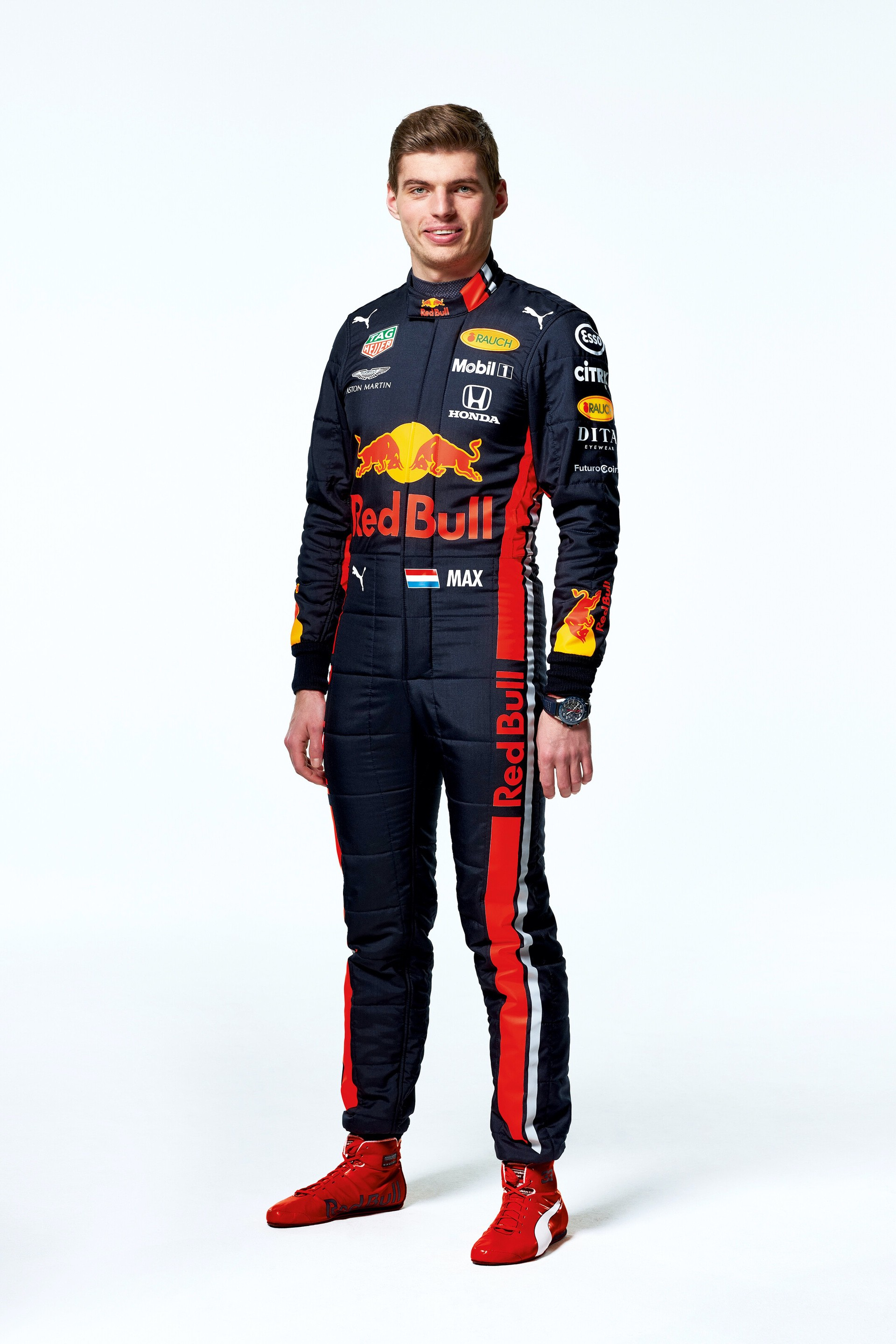 Max Verstappen seen during the Red Bull Racing 2019 Studio Shoot, February 2019, United Kingdom // Dustin Snipes/Red Bull Content Pool // AP-1YFPFH7Q51W11 // Usage for editorial use only // Please go to www.redbullcontentpool.com for further information. //