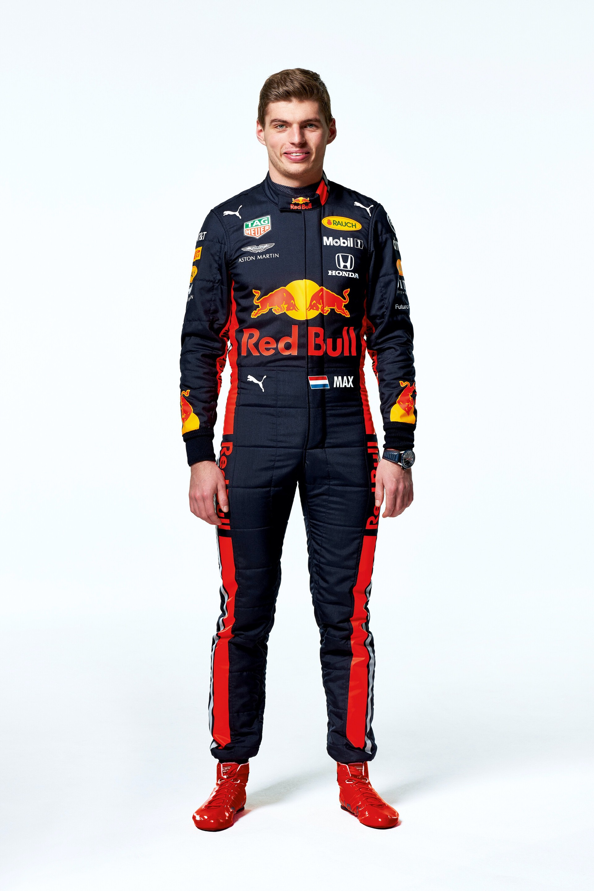 Max Verstappen seen during the Red Bull Racing 2019 Studio Shoot, February 2019, United Kingdom // Dustin Snipes/Red Bull Content Pool // AP-1YFPFH7YW1W11 // Usage for editorial use only // Please go to www.redbullcontentpool.com for further information. //