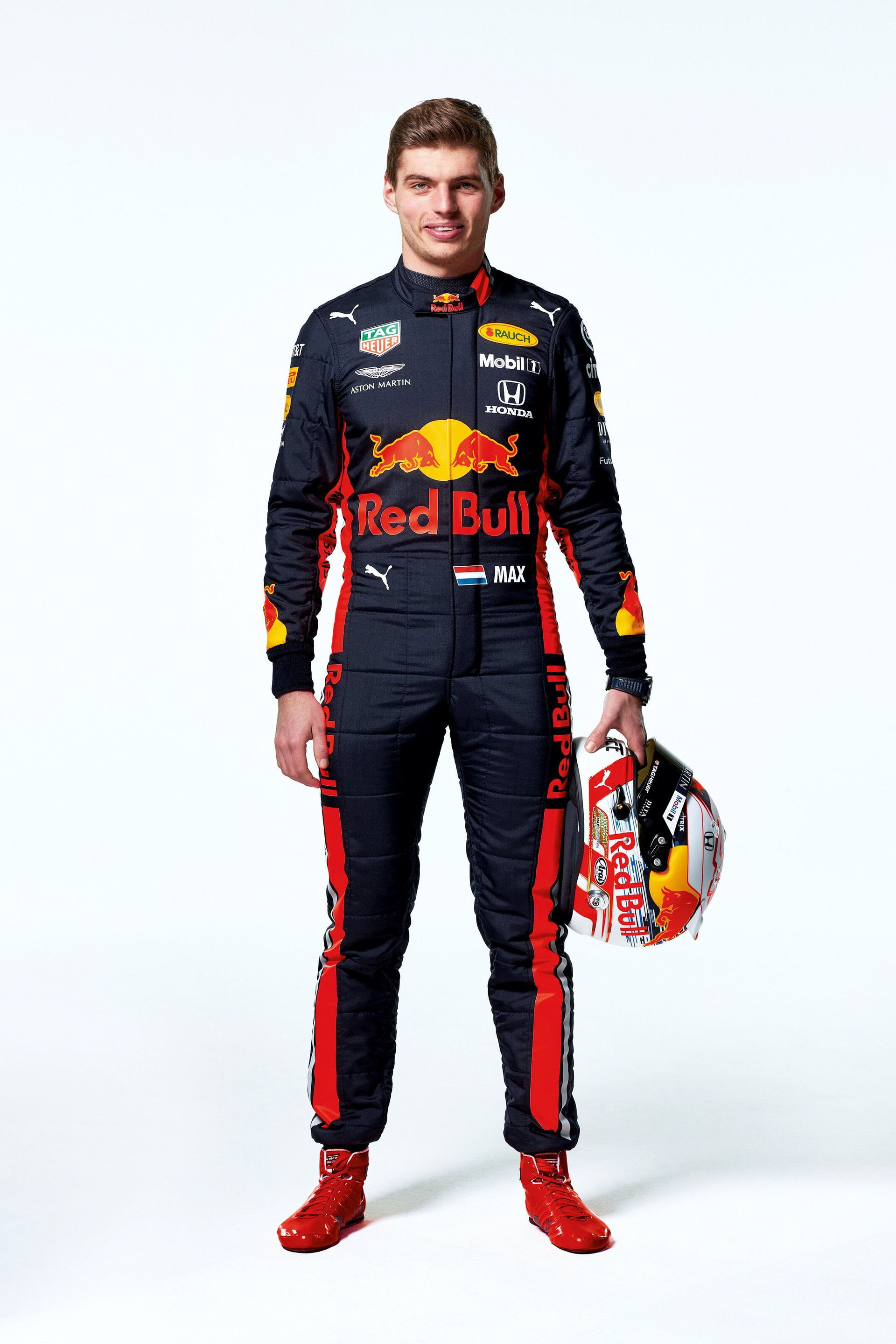 Max Verstappen seen during the Red Bull Racing 2019 Studio Shoot, February 2019, United Kingdom // Dustin Snipes/Red Bull Content Pool // AP-1YFPFH89H1W11 // Usage for editorial use only // Please go to www.redbullcontentpool.com for further information. //