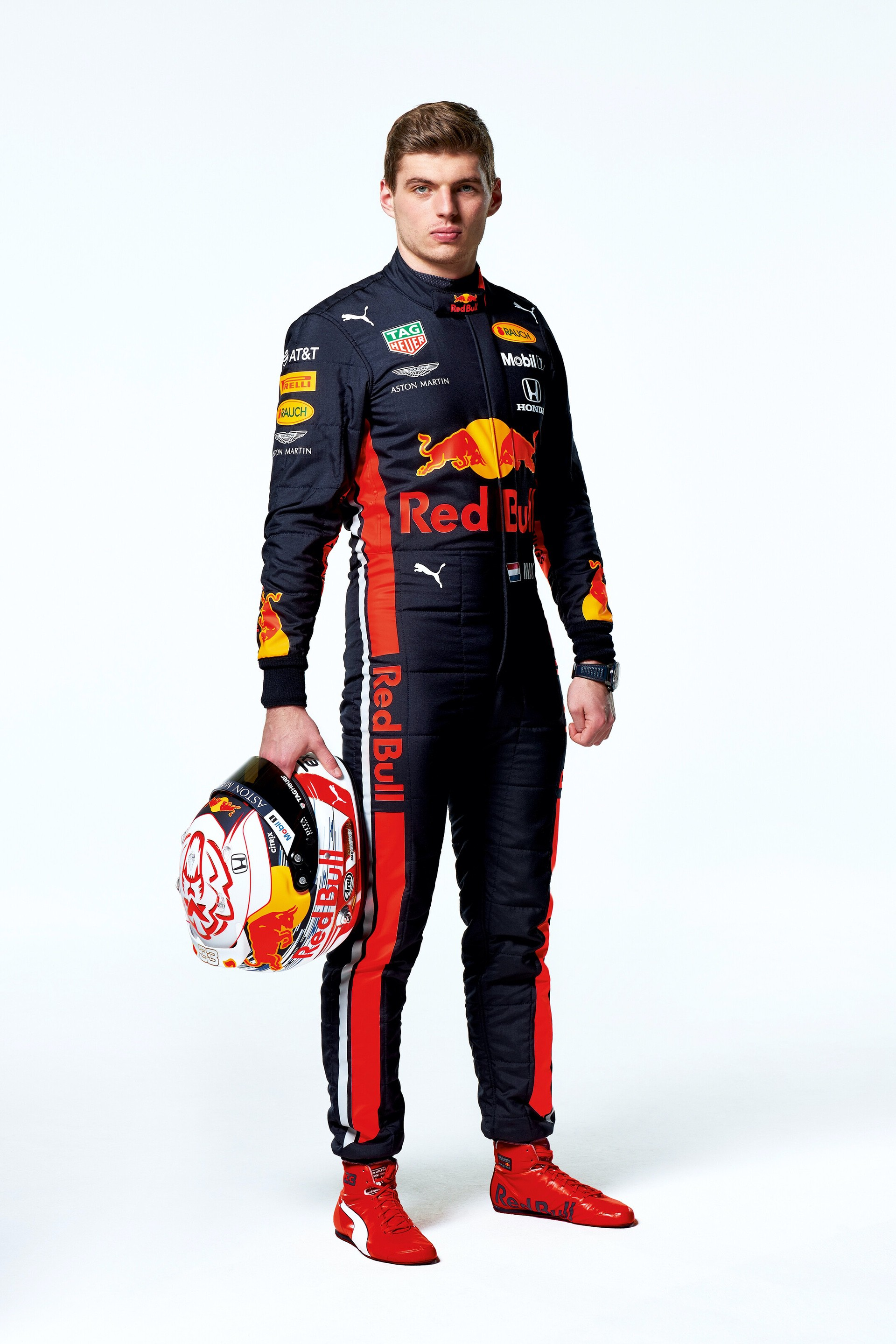 Max Verstappen seen during the Red Bull Racing 2019 Studio Shoot, February 2019, United Kingdom // Dustin Snipes/Red Bull Content Pool // AP-1YFPFH8NS1W11 // Usage for editorial use only // Please go to www.redbullcontentpool.com for further information. //