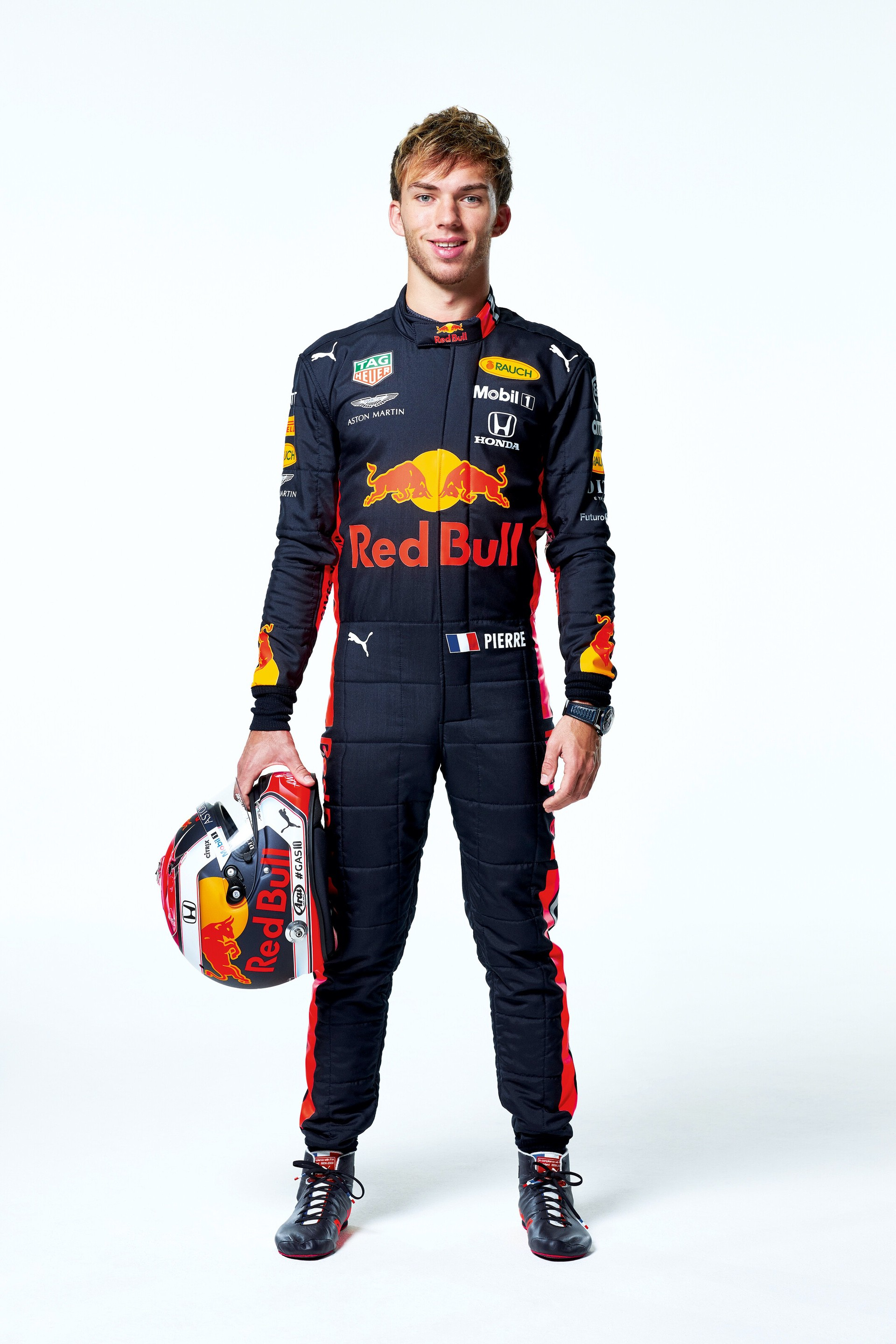 Pierre Gasly seen during the Red Bull Racing 2019 Studio Shoot, February 2019, United Kingdom // Dustin Snipes/Red Bull Content Pool // AP-1YFPFH97D1W11 // Usage for editorial use only // Please go to www.redbullcontentpool.com for further information. //