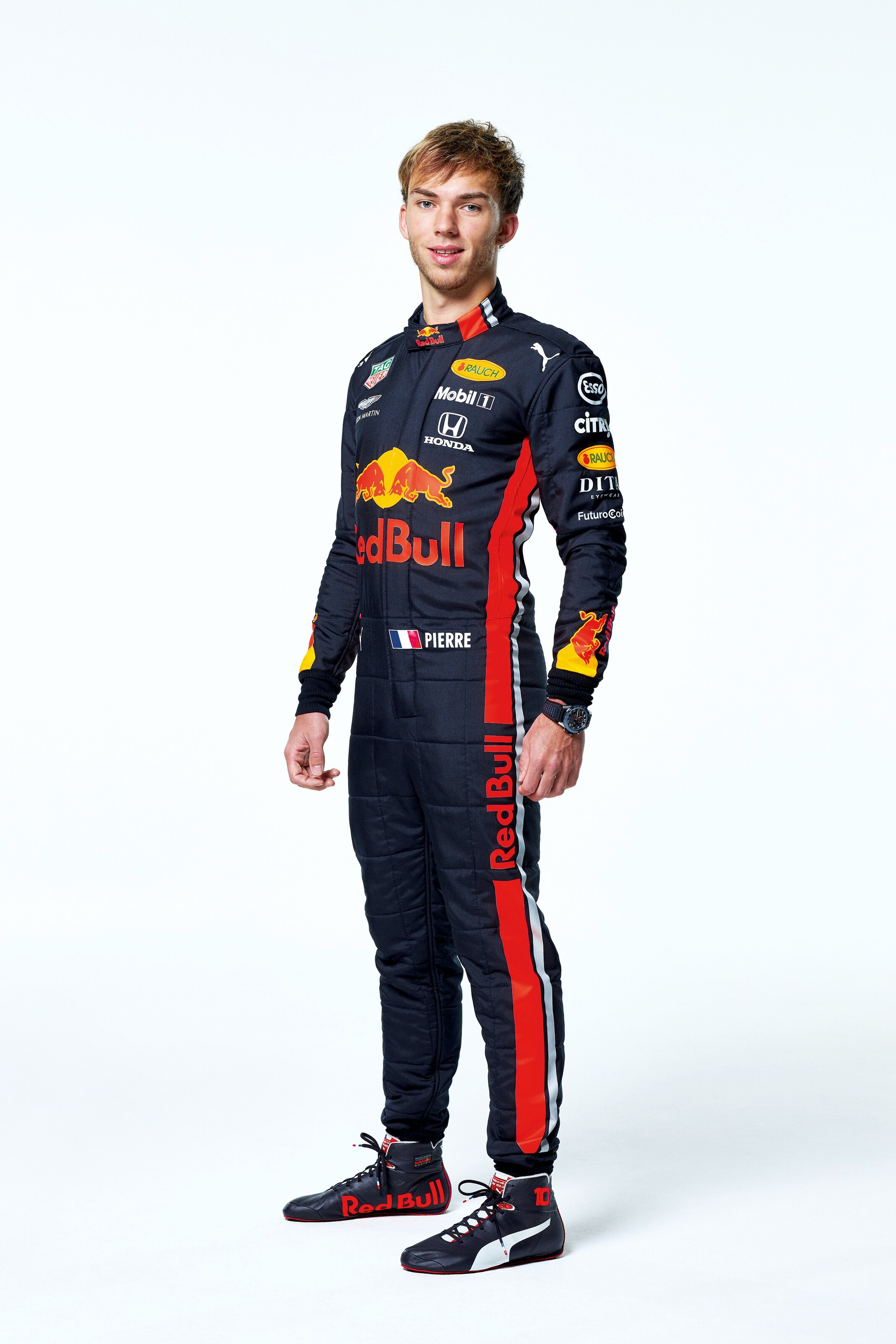 Pierre Gasly seen during the Red Bull Racing 2019 Studio Shoot, February 2019, United Kingdom // Dustin Snipes/Red Bull Content Pool // AP-1YFPFH9E51W11 // Usage for editorial use only // Please go to www.redbullcontentpool.com for further information. //