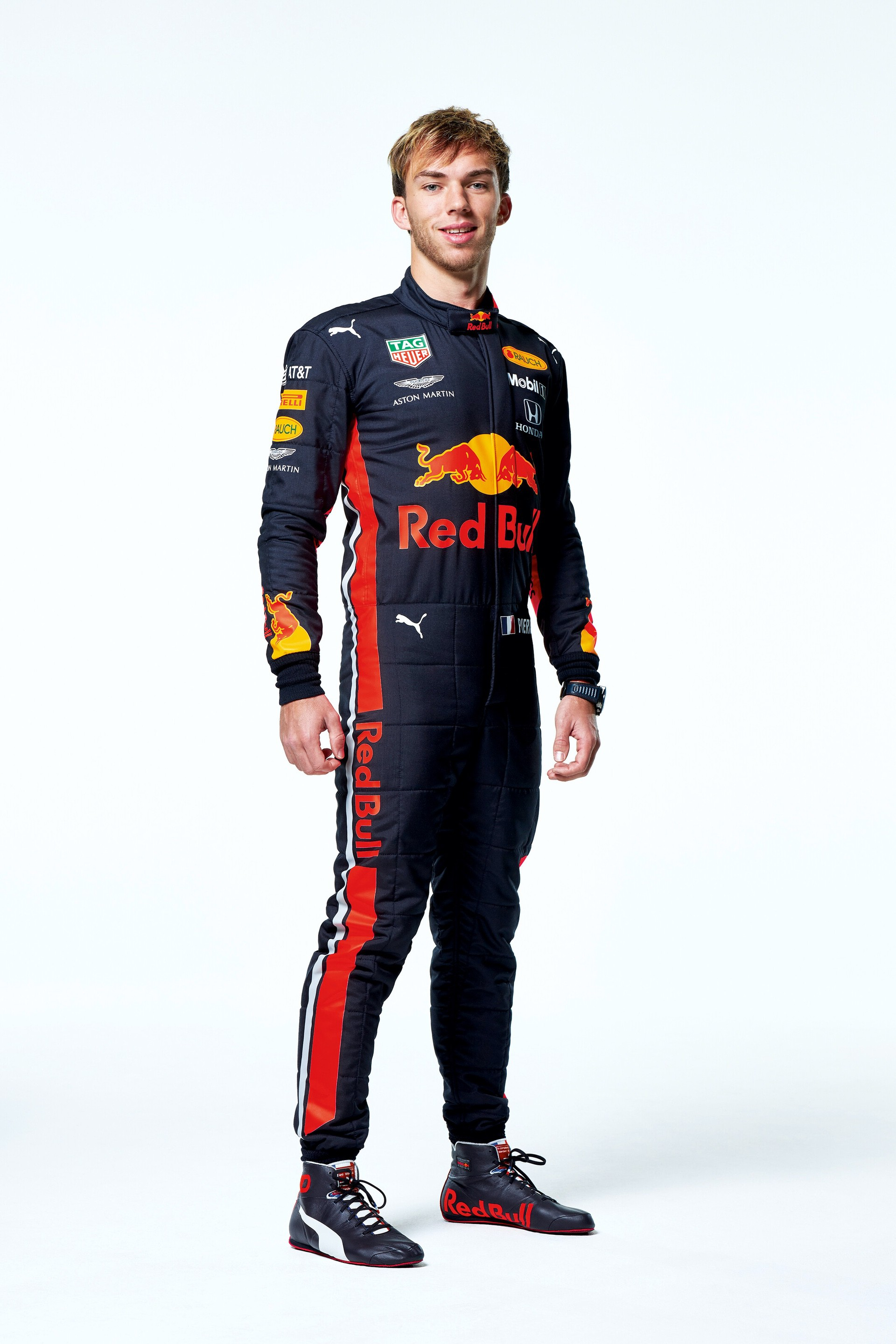 Pierre Gasly seen during the Red Bull Racing 2019 Studio Shoot, February 2019, United Kingdom // Dustin Snipes/Red Bull Content Pool // AP-1YFPFH9PD1W11 // Usage for editorial use only // Please go to www.redbullcontentpool.com for further information. //