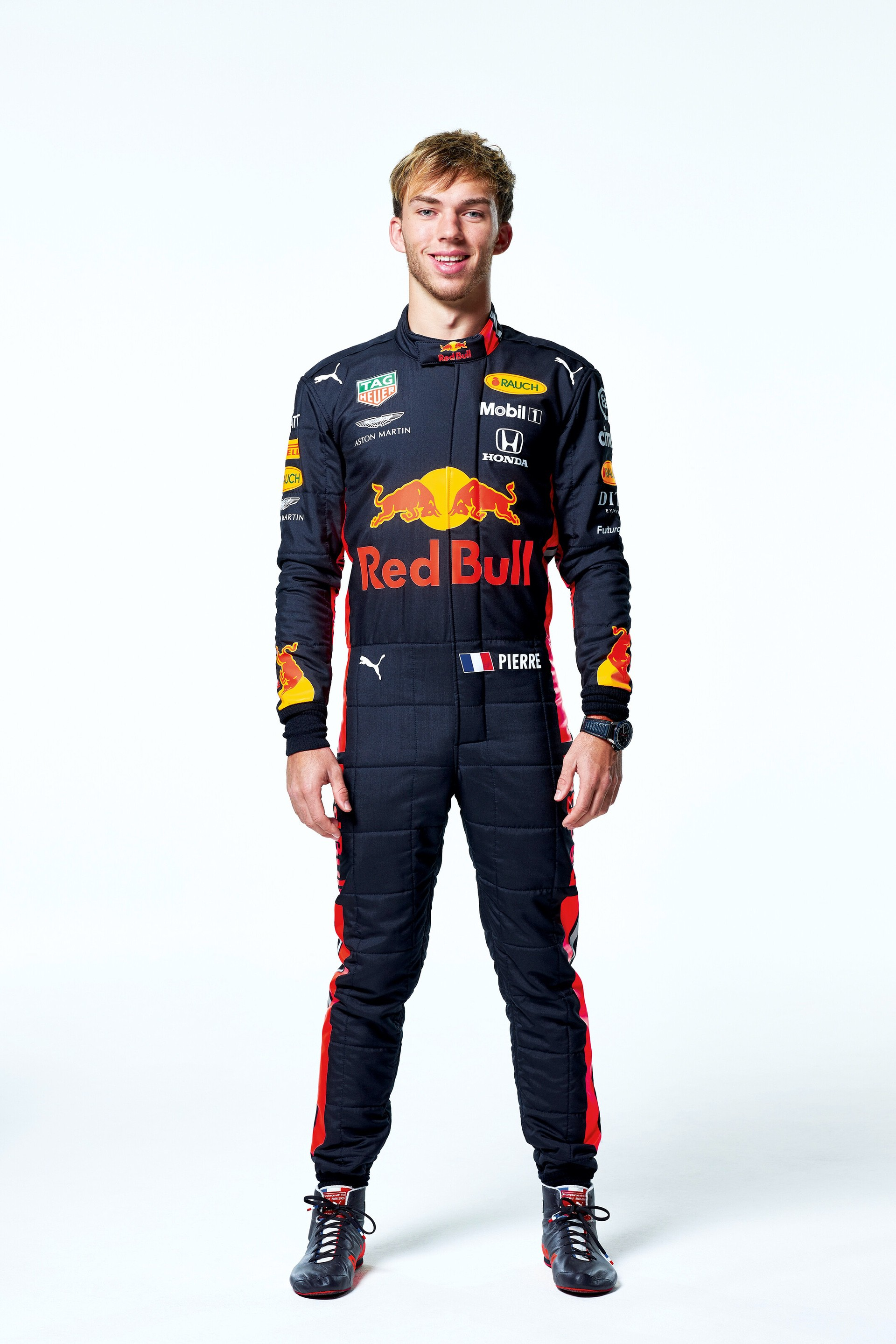 Pierre Gasly seen during the Red Bull Racing 2019 Studio Shoot, February 2019, United Kingdom // Dustin Snipes/Red Bull Content Pool // AP-1YFPFH9X91W11 // Usage for editorial use only // Please go to www.redbullcontentpool.com for further information. //