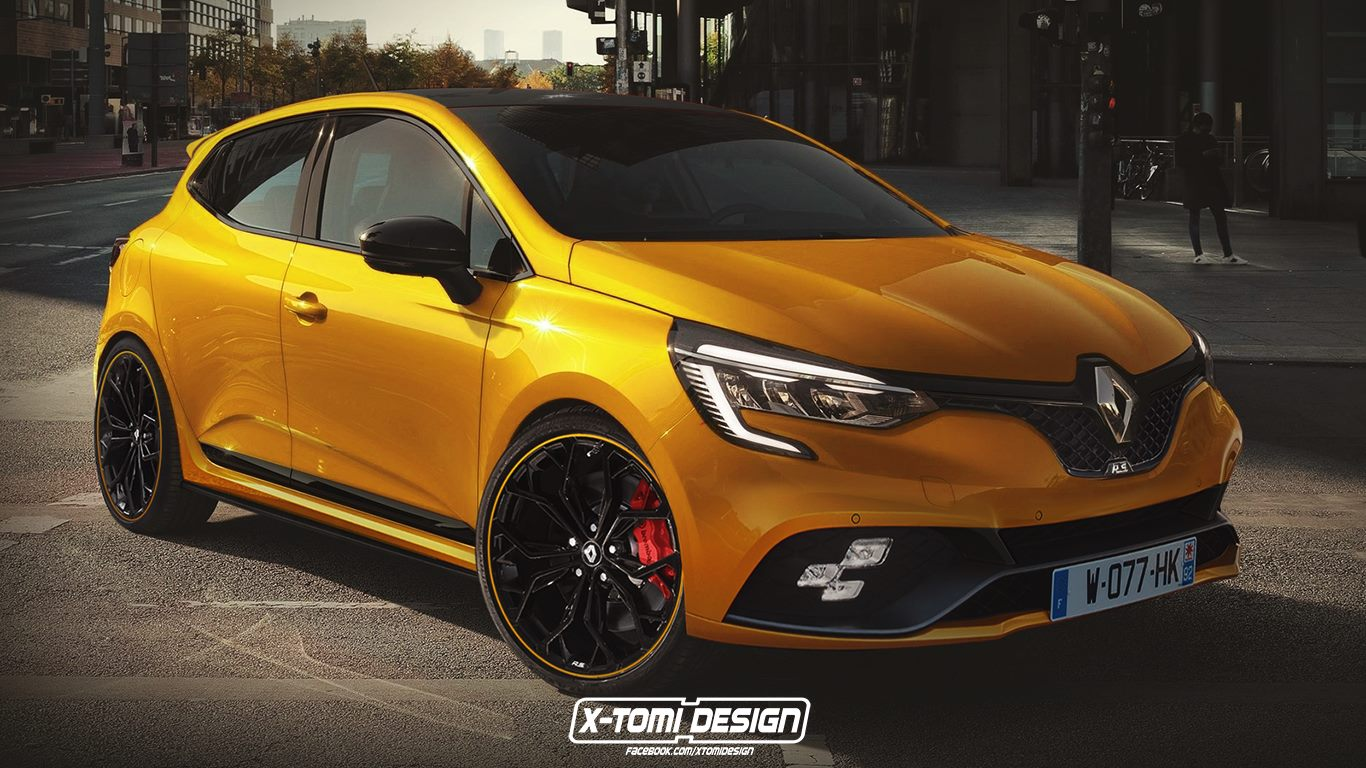 Renault Clio RS rendering