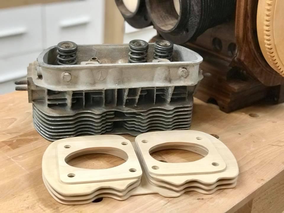 Wooden Volkswagen Engine Wood Art Finland (102)