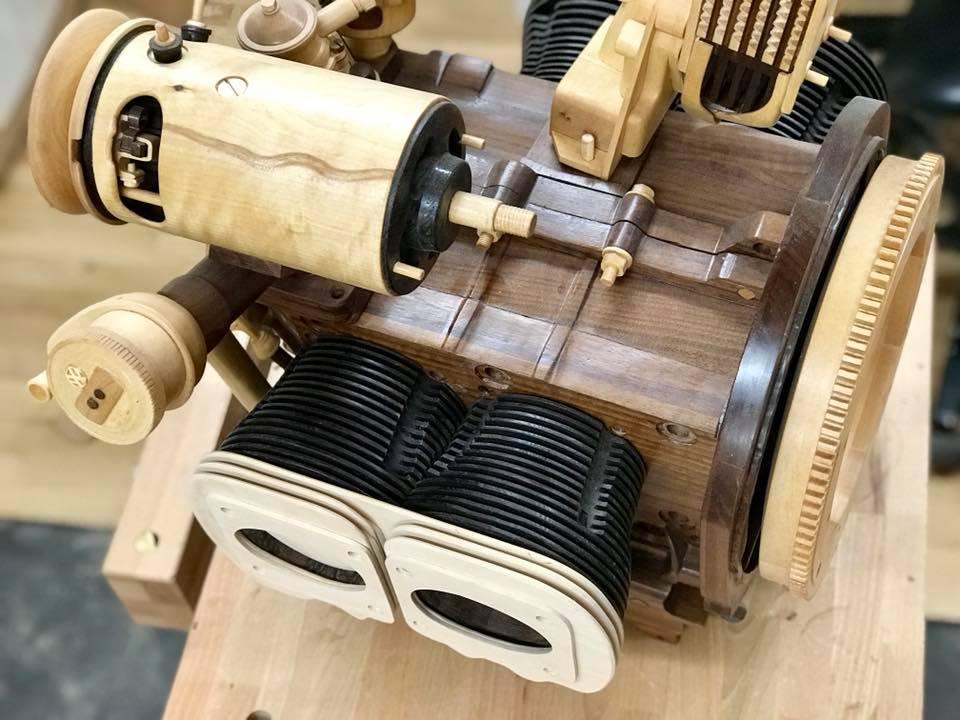 Wooden Volkswagen Engine Wood Art Finland (106)