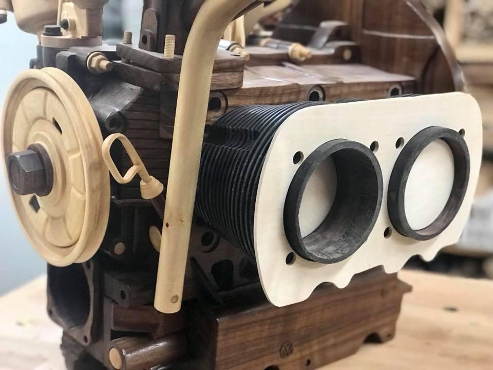Wooden Volkswagen Engine Wood Art Finland (110)