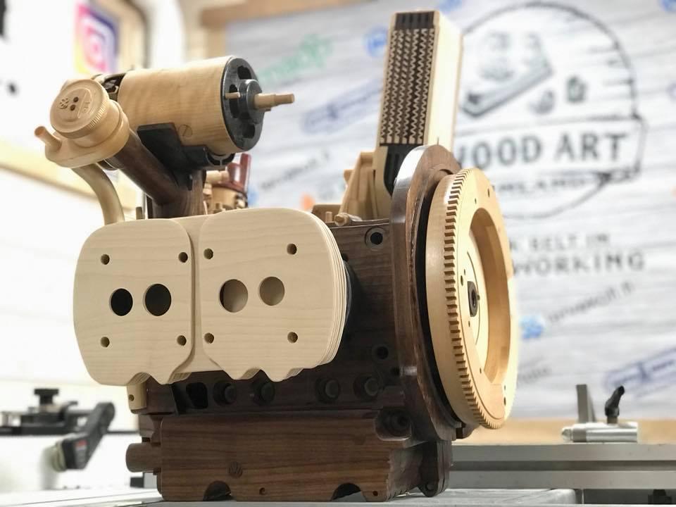 Wooden Volkswagen Engine Wood Art Finland (113)