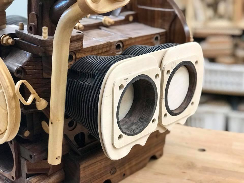 Wooden Volkswagen Engine Wood Art Finland (115)